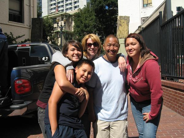 Mi familia - ministering on the streets together. About a decade ago.