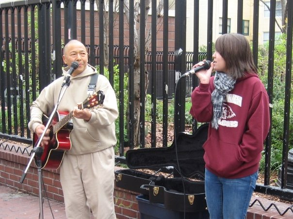 No, I'm not a singer. But from time to time, my dad and I would lead worship together in the park with our homeless friends. Those are some of the best moments of my life.