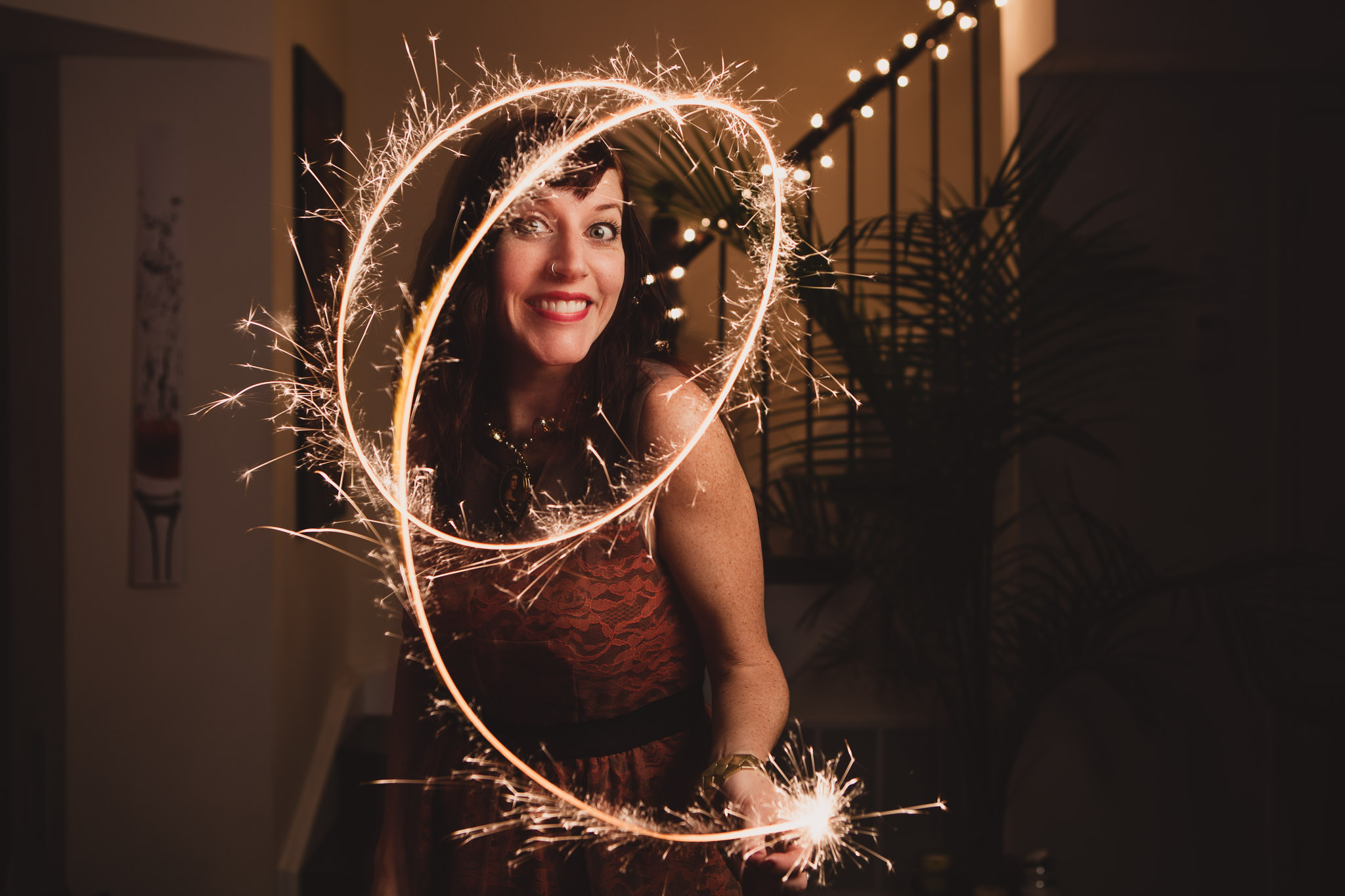 Cristy: pyrotechnical expert with the New Year's sparklers