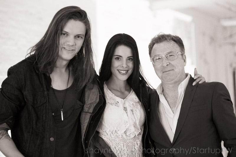DJ James Drummond, Robyn Le Sauvage and Director/ProducerPR Philip Princeton