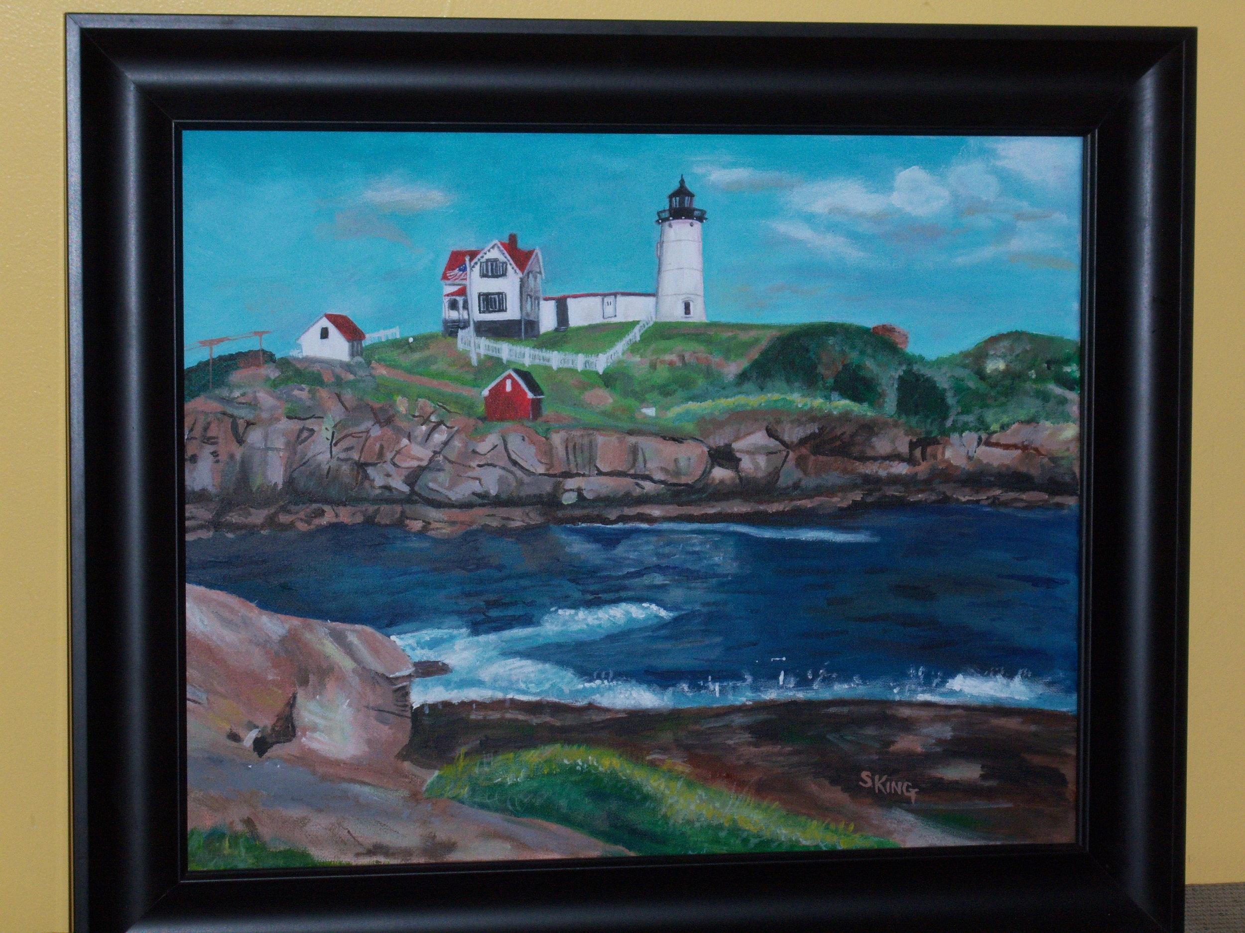 SusanKing_NubbleLighthouse-YorkME4-16x20-Acrylics-$400.JPG