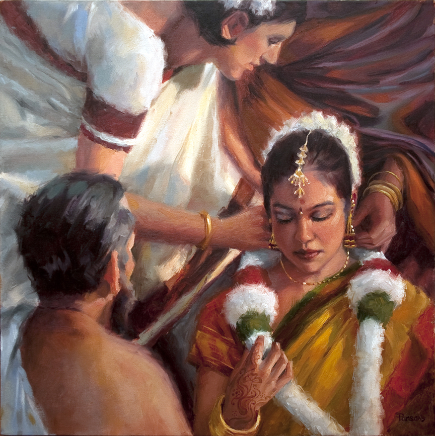 The Wedding of Aruna - Oil, 24x24