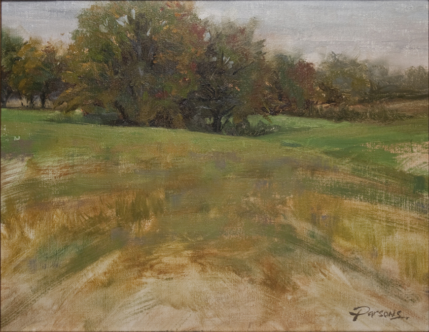 Frog Hollow plein air - oil, 11x14