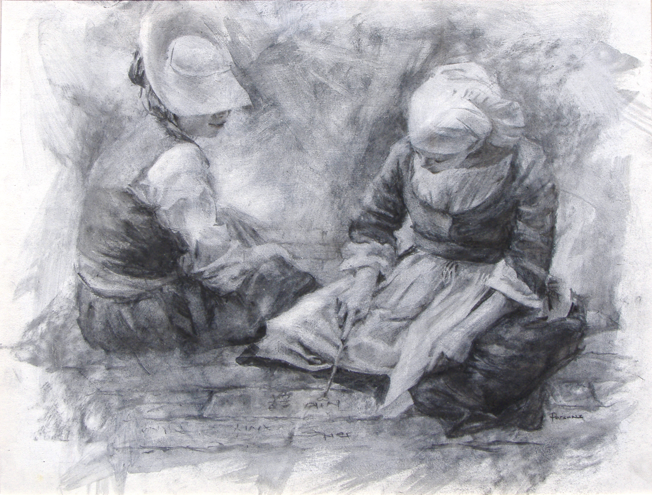 colonial children - charcoal.jpg