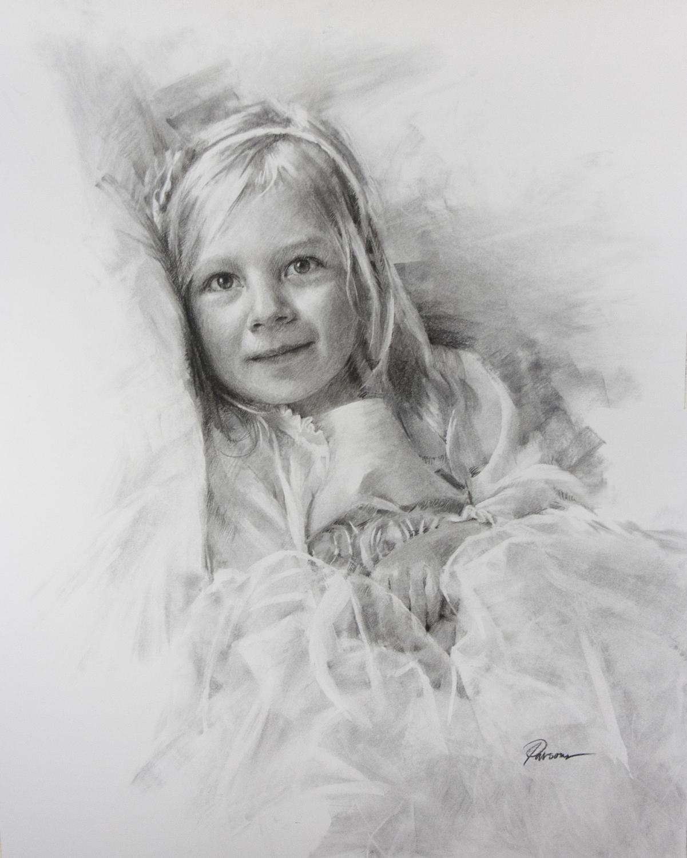 Addison Charcoal Portrait