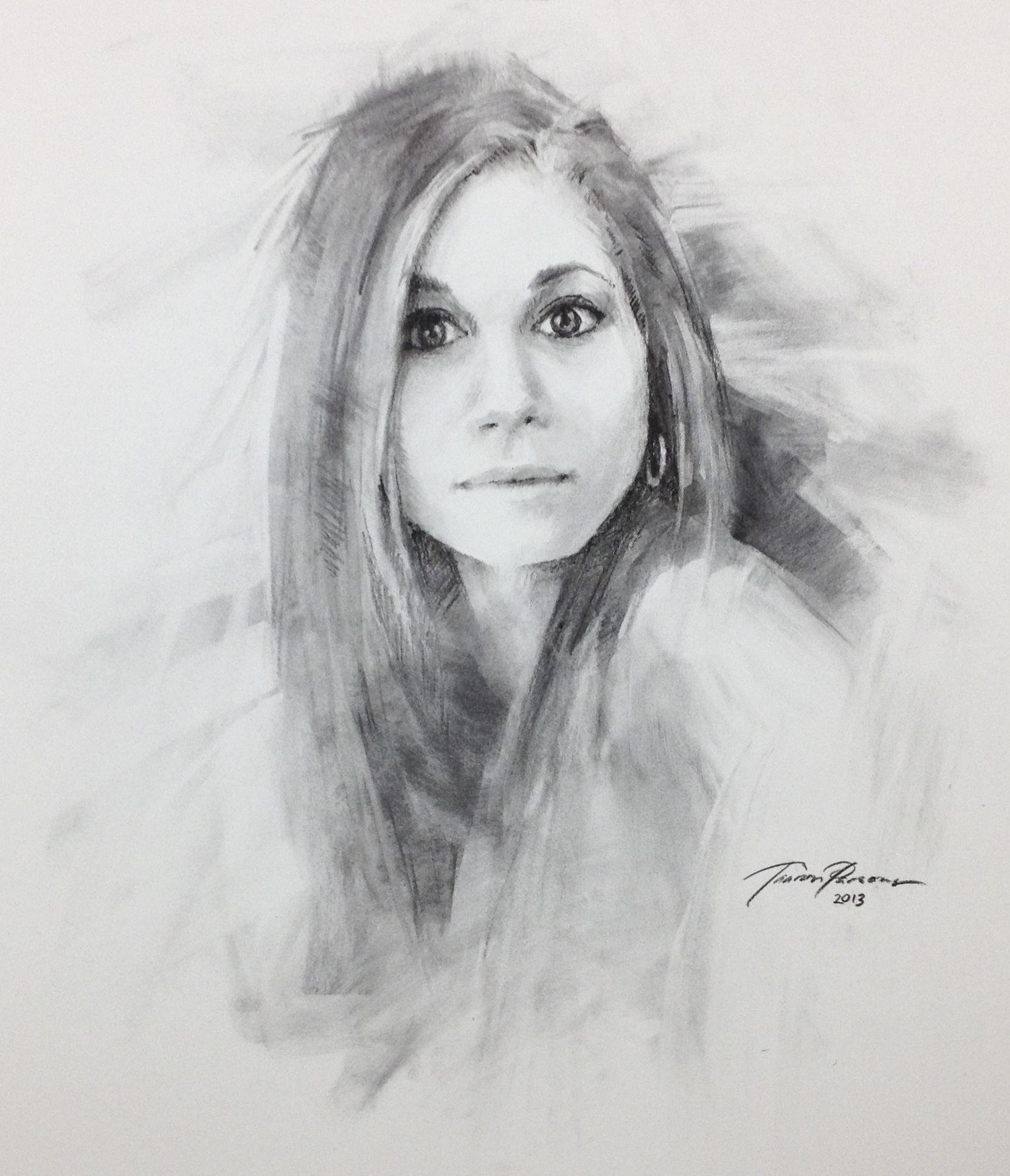 Amber Charcoal Portrait