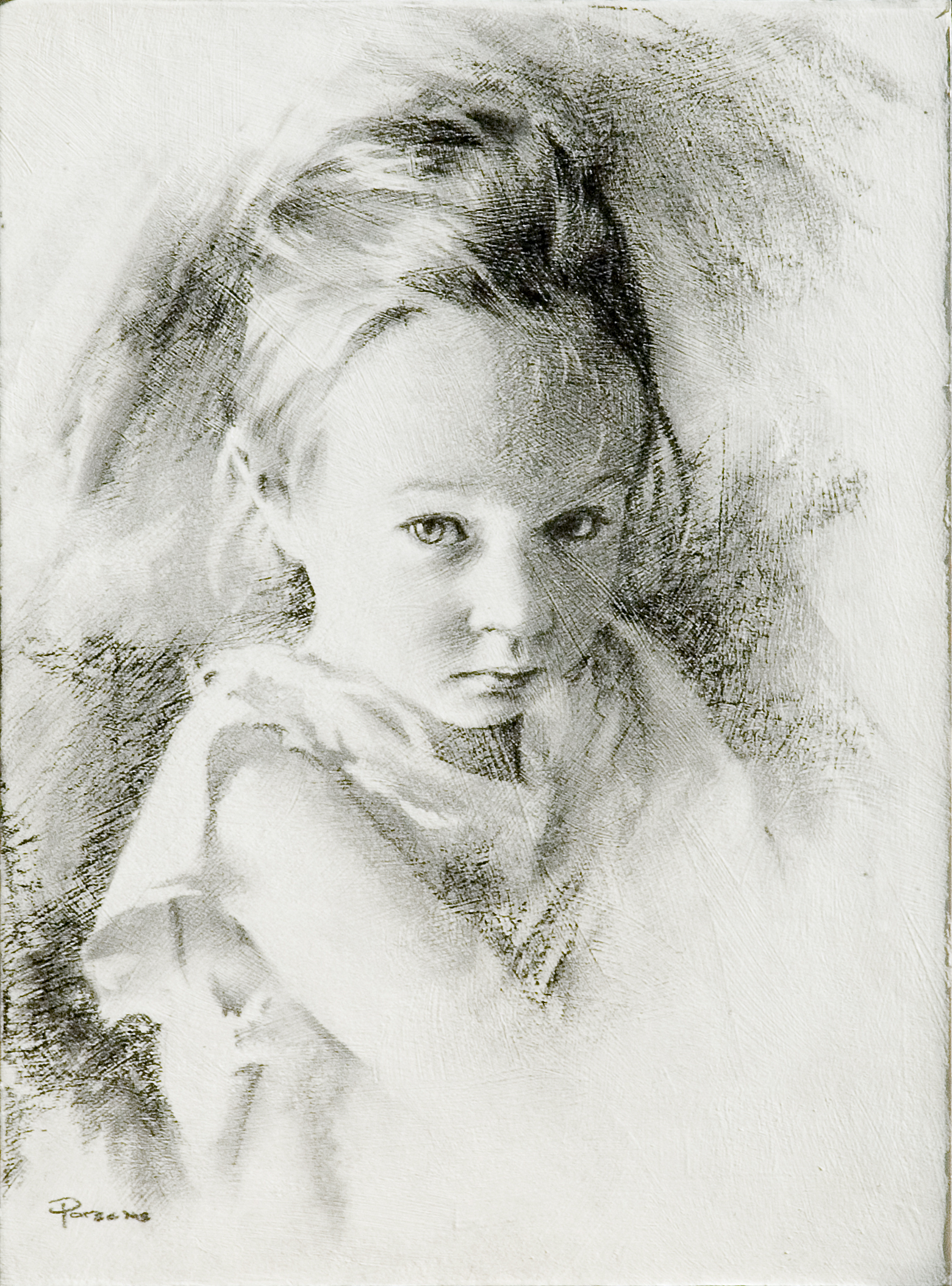Julie Charcoal Portrait