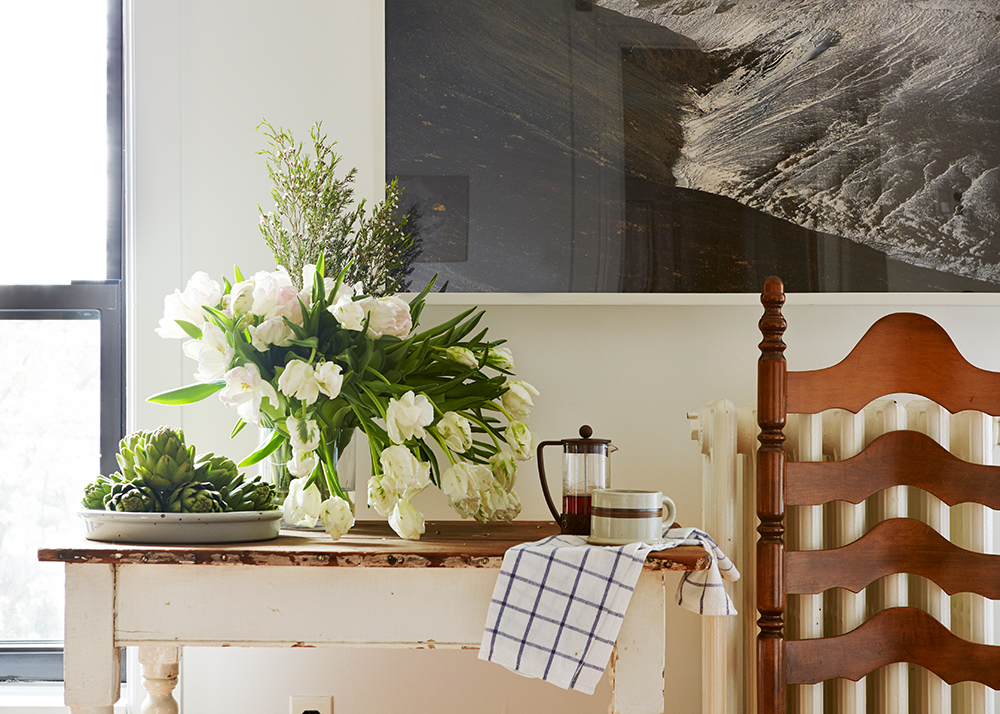 """""""Mountain (Mývatn, Iceland)"""" ,   30""""x40"""" (interior photo by Biz Jones, interior design by Common Bond Design, featured in Design*Sponge)"""