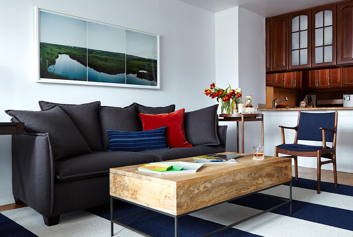 """Marsh (Laugarvatn, Iceland)"" ,   28""x61"" (interior photo by Biz Jones, interior design by Common Bond Design, featured in Rue Magazine)"