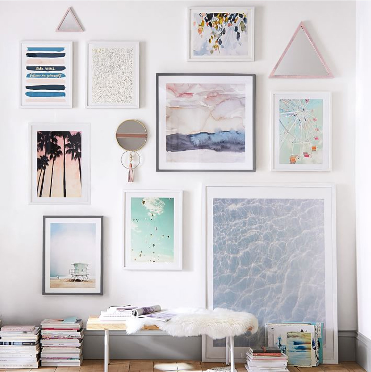 """Wave Patterns""  (bottom right),   available at Pottery Barn Teen (interior photo by Pottery Barn Teen)"