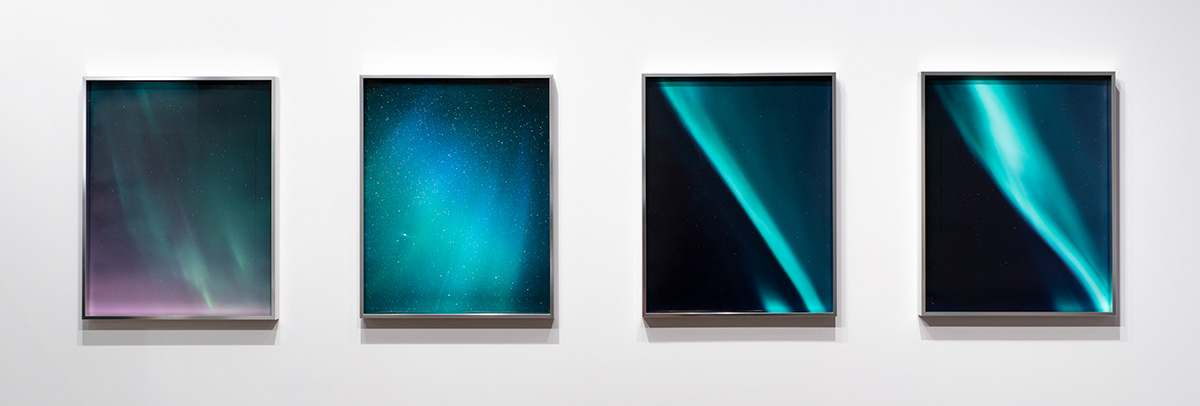 "Aurora  series,   20""x16"" each, installed at  Flat File Art"