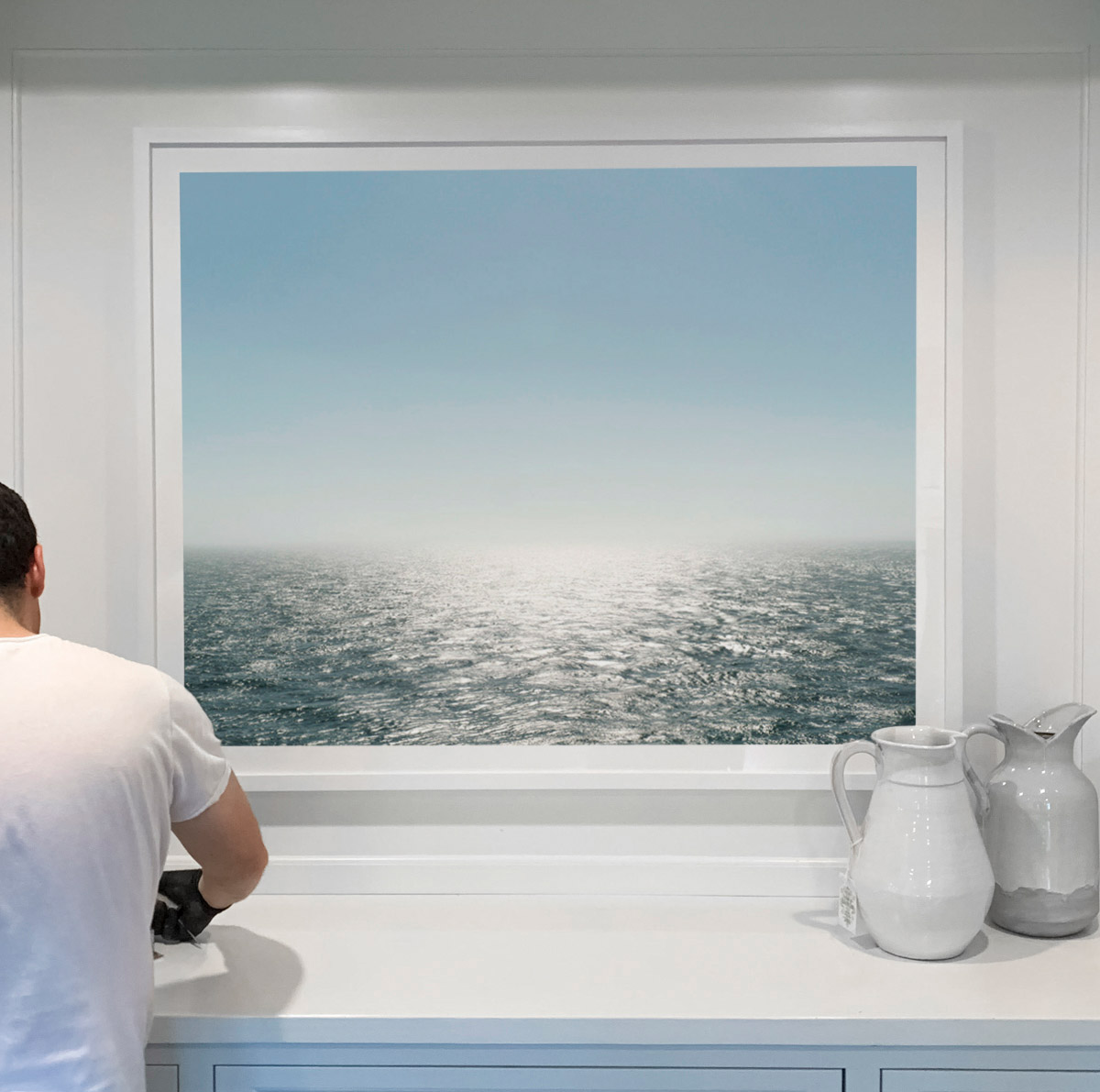 """Atlantic (Akraberg, Faroe Islands)"" ,   40""x50"" (interior design by Grisoro Designs)"