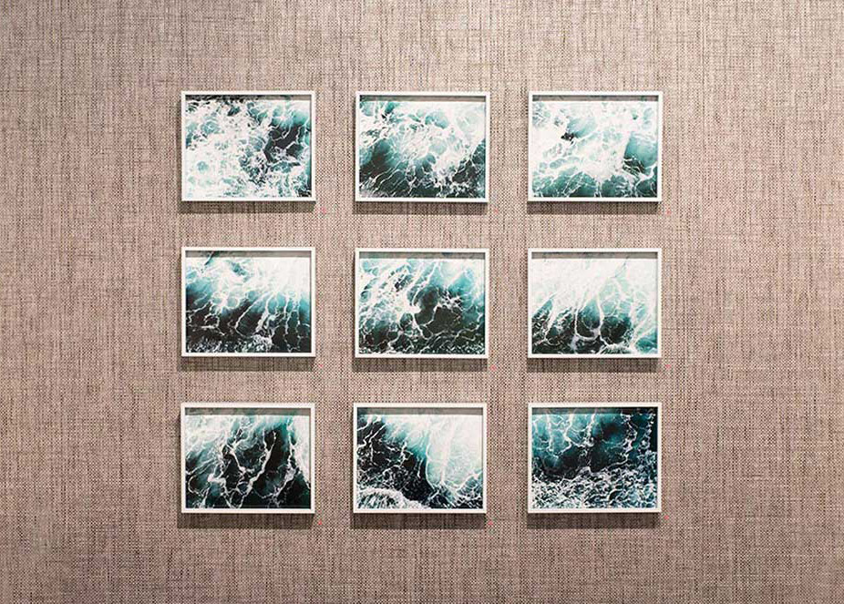 "Waves  series,   9""x11.25"" each, installed at  Flat File Art"