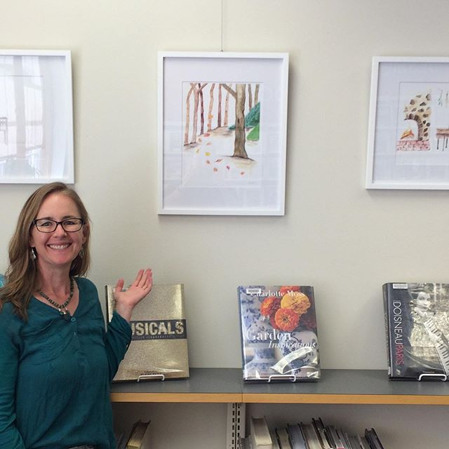 My paintings are up at the @deschuteslibrary (Redmond branch)!! I'm so excited and proud. What a fun experience. Please go visit them and the beautiful quilt collection featured there this month. . . . #library #librariesofinstagram #librariesrock #thankyou #art #artist #artistsoninstagram #artistsofinstagram #watercolor #briarlore #inredmond #inredmondoregon #redmondoregon