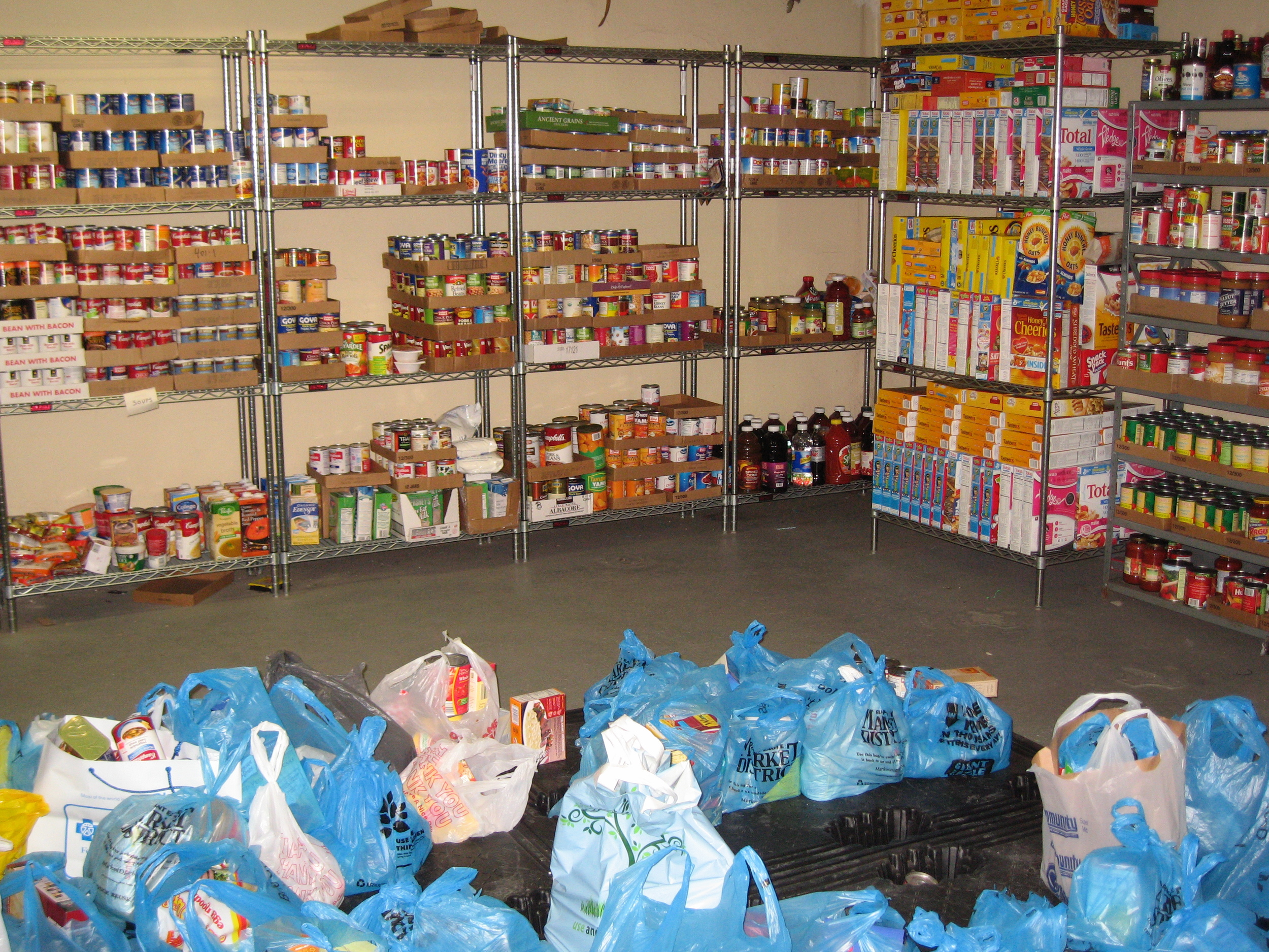 St. Paul Cathedral Food Pantry.