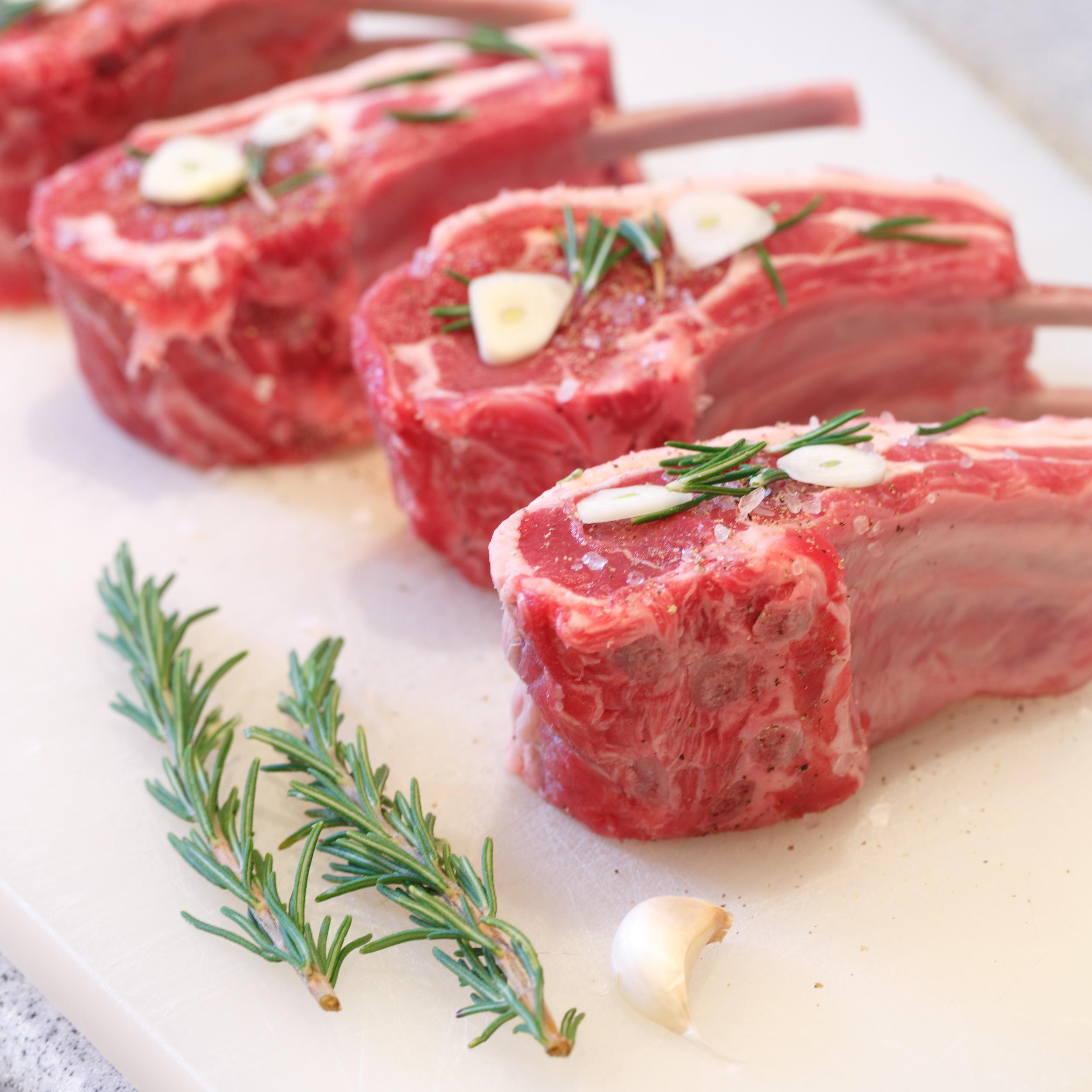 Lamb chops sous vide