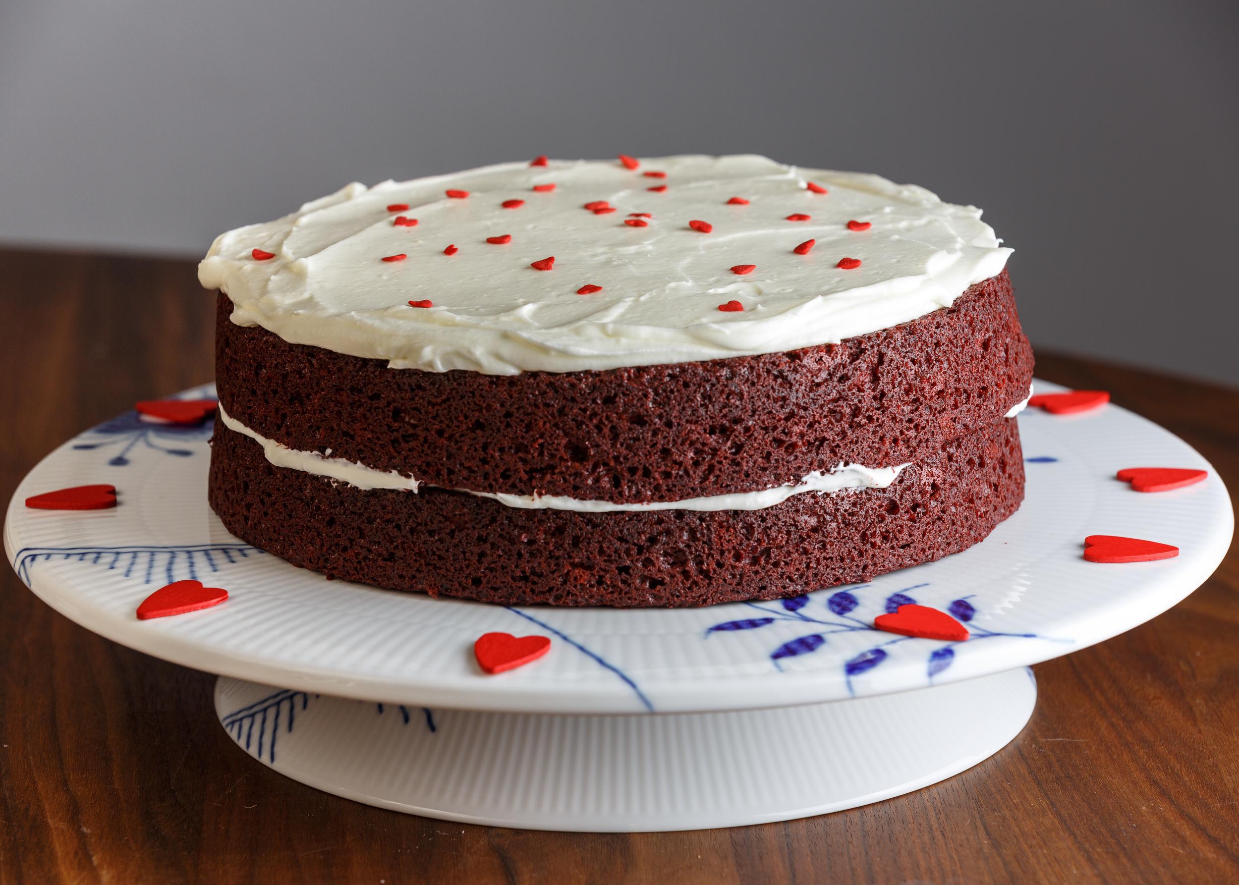 Red Velvet Cake for Valentine's day