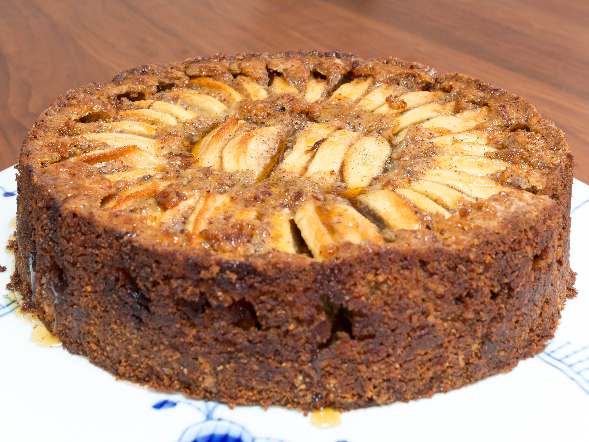 Apple Cake with Hazelnuts and Apple Syrup
