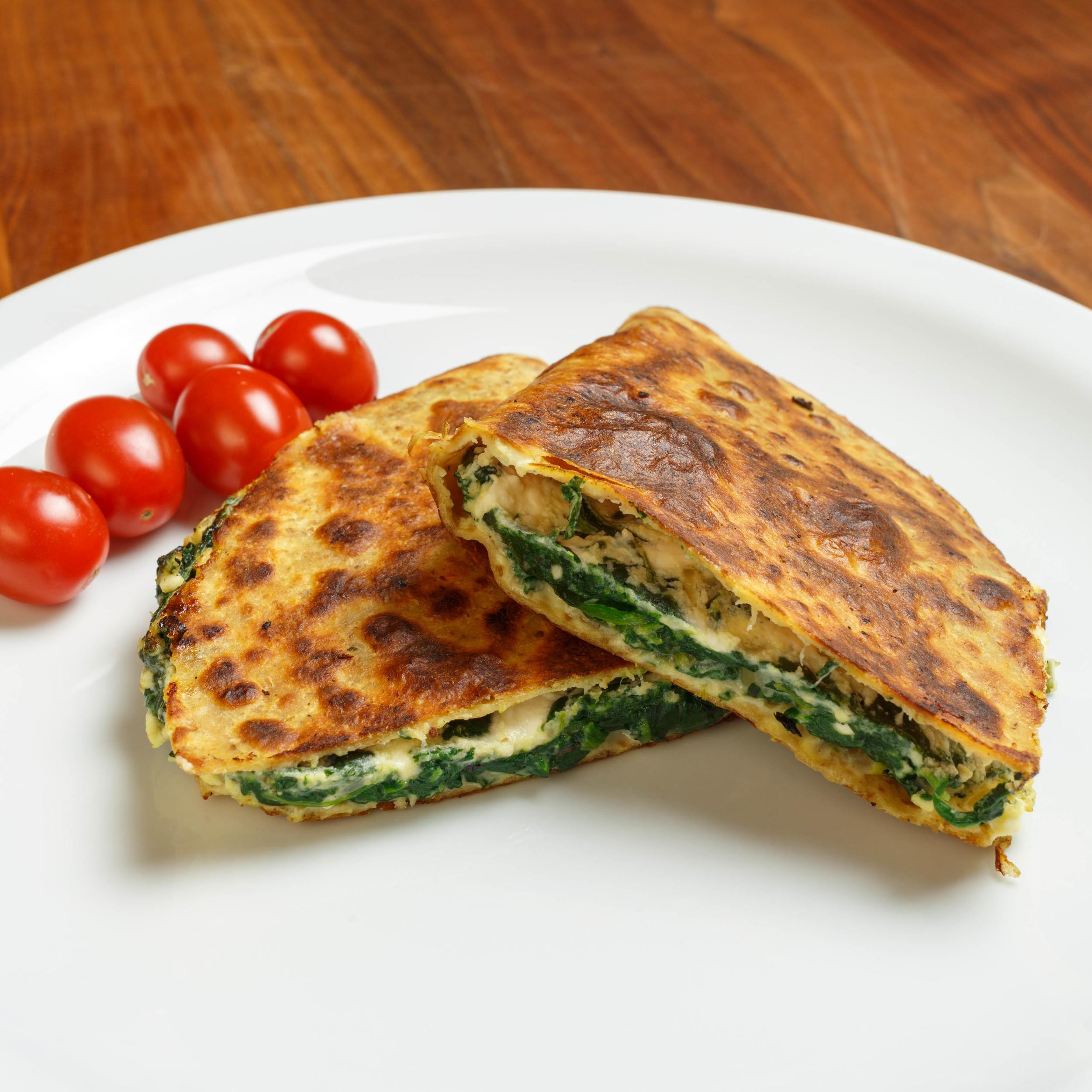 Spinach Pie Quesadilla