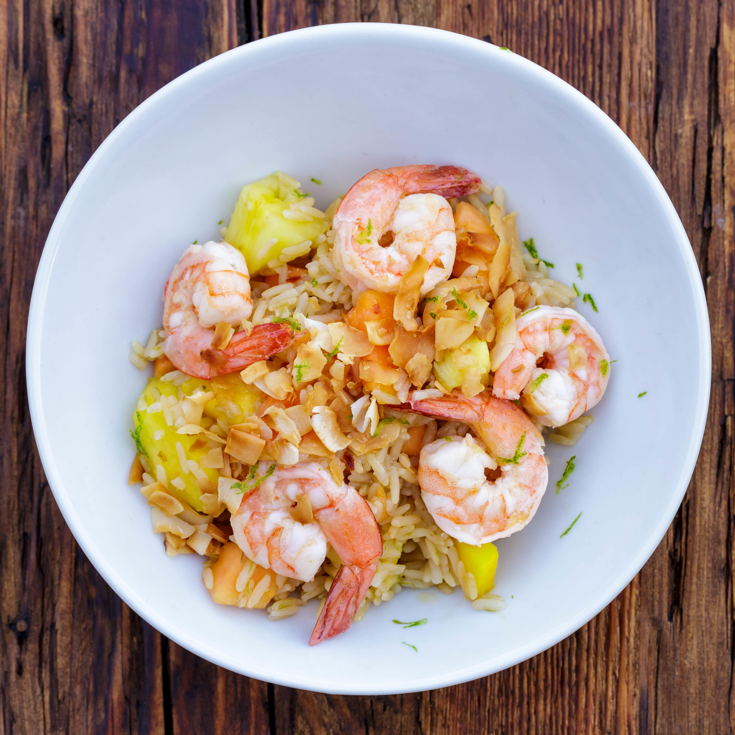 Coconut Shrimp with Island Rice