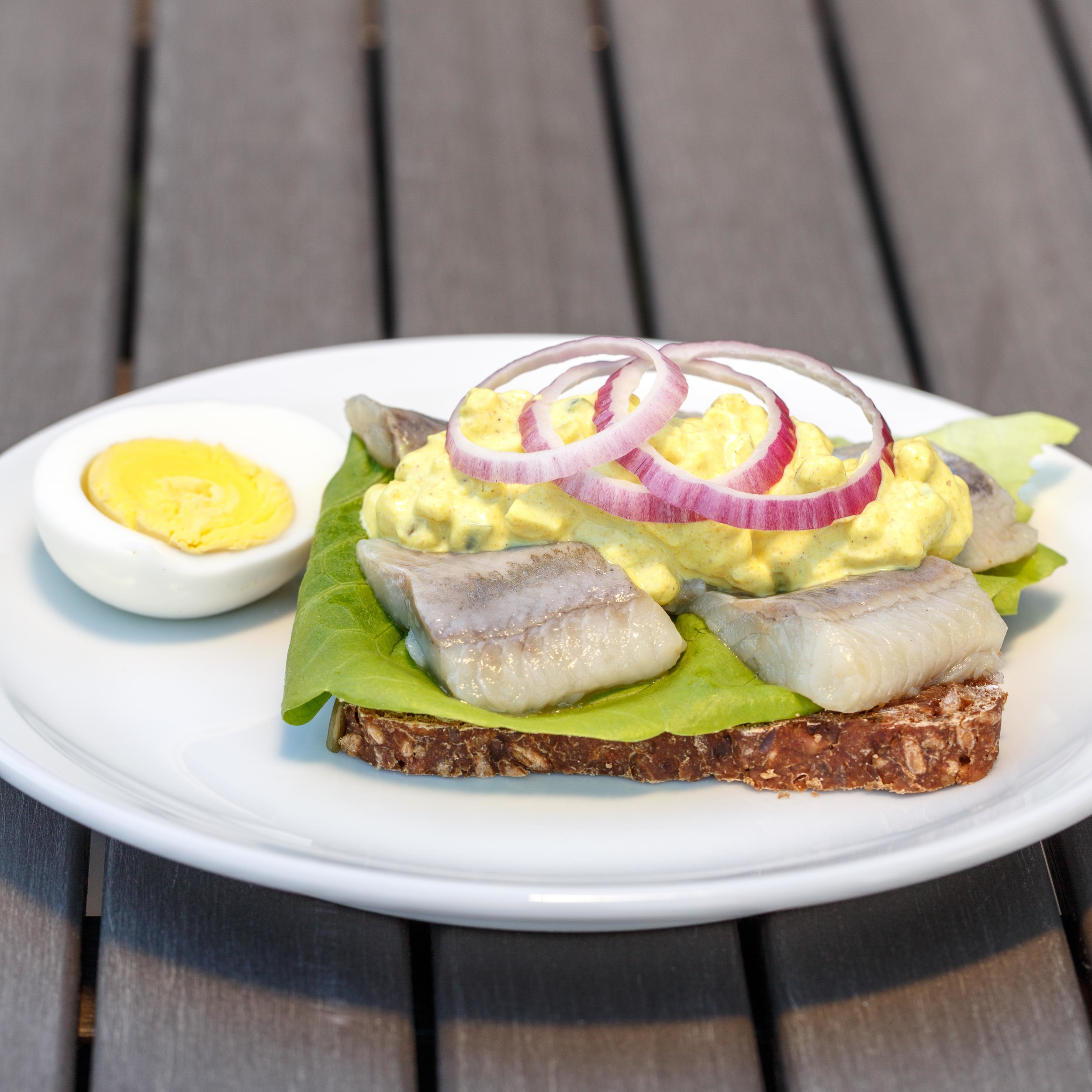 Curry Salad on pickled herring