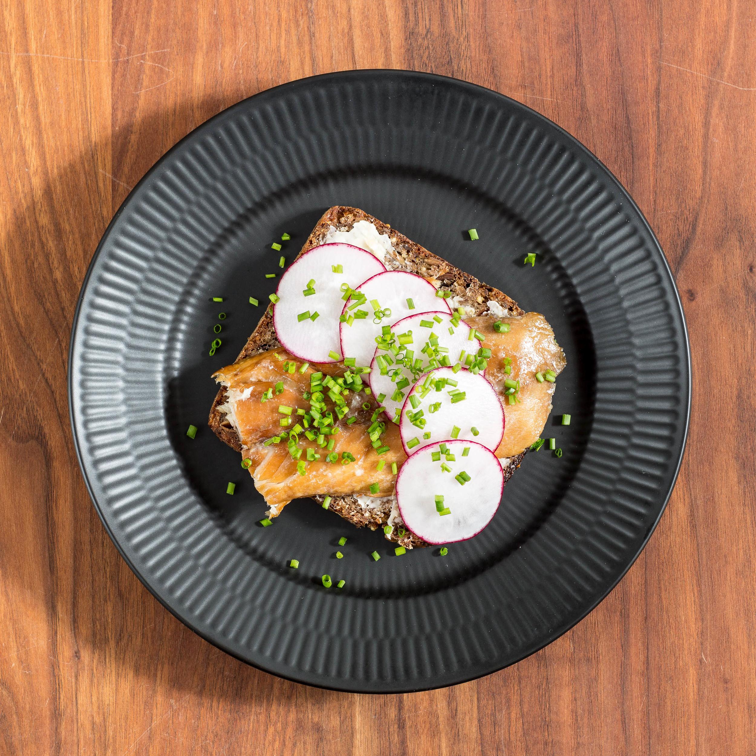 Smoked Mackerel on an Open-faced Sandwich