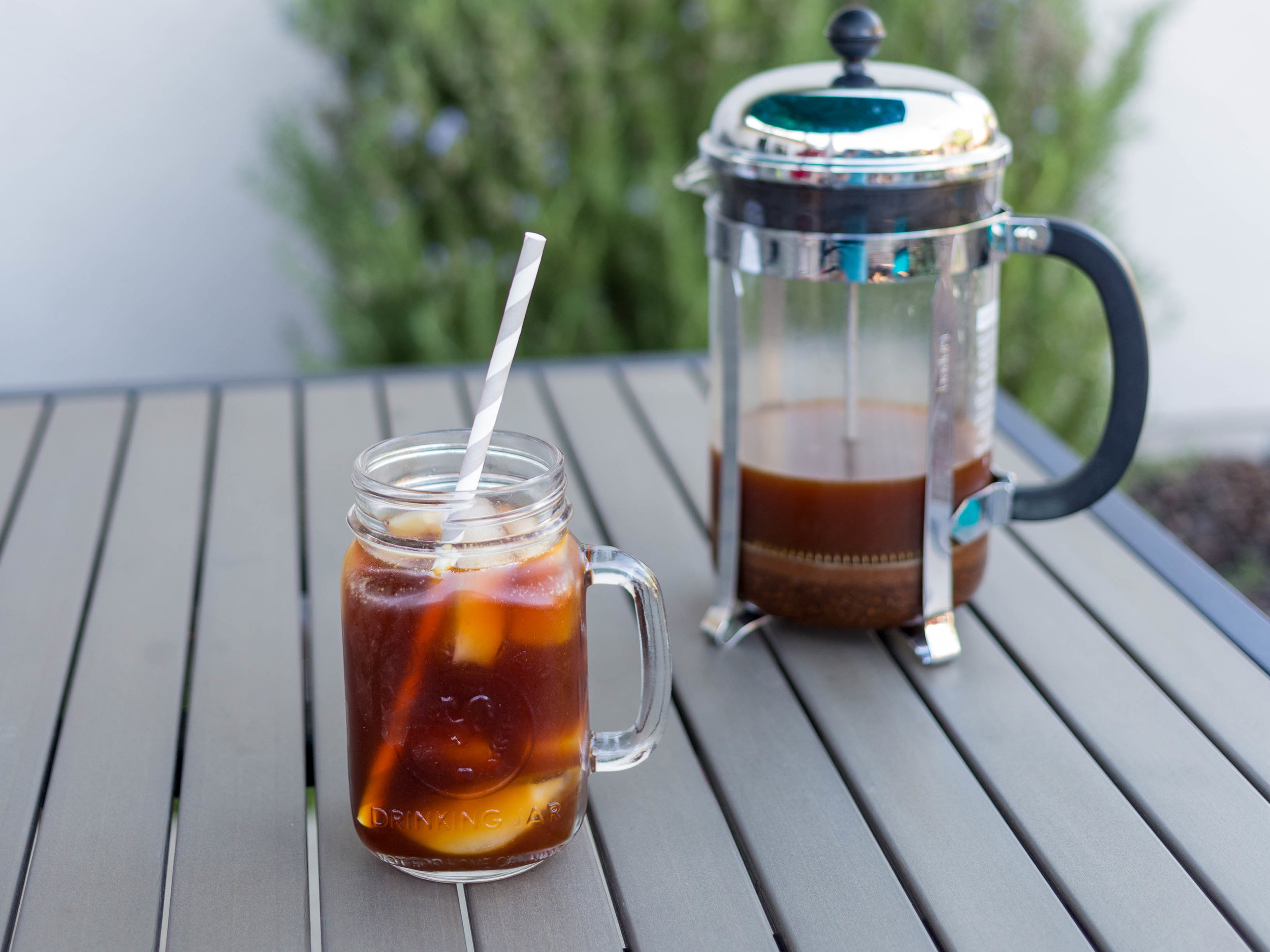 Cold Brewed Coffee.