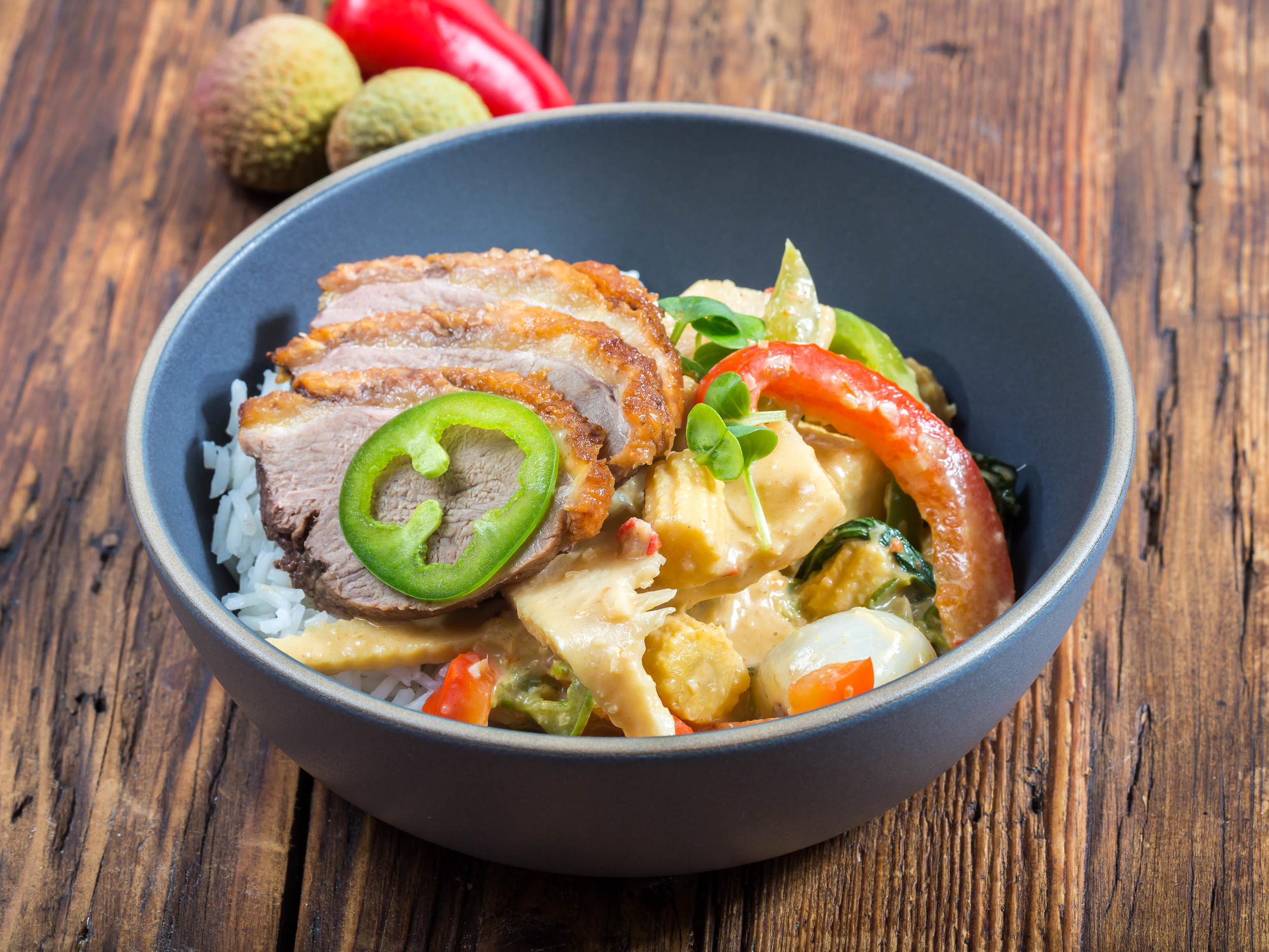Red Curry with Seared Duck Breast