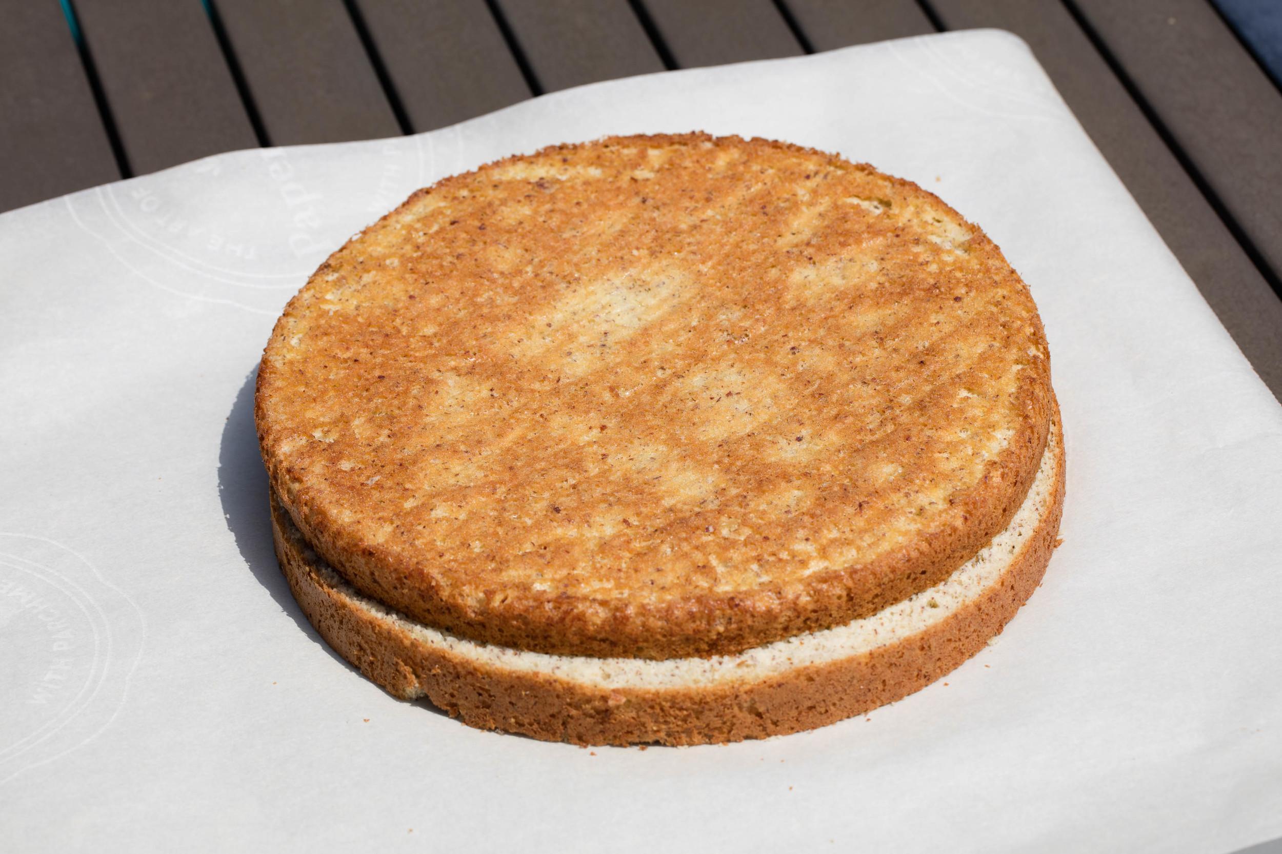 Nødde-Lagkagebunde - Hazelnut Cake for Danish Layer Cake