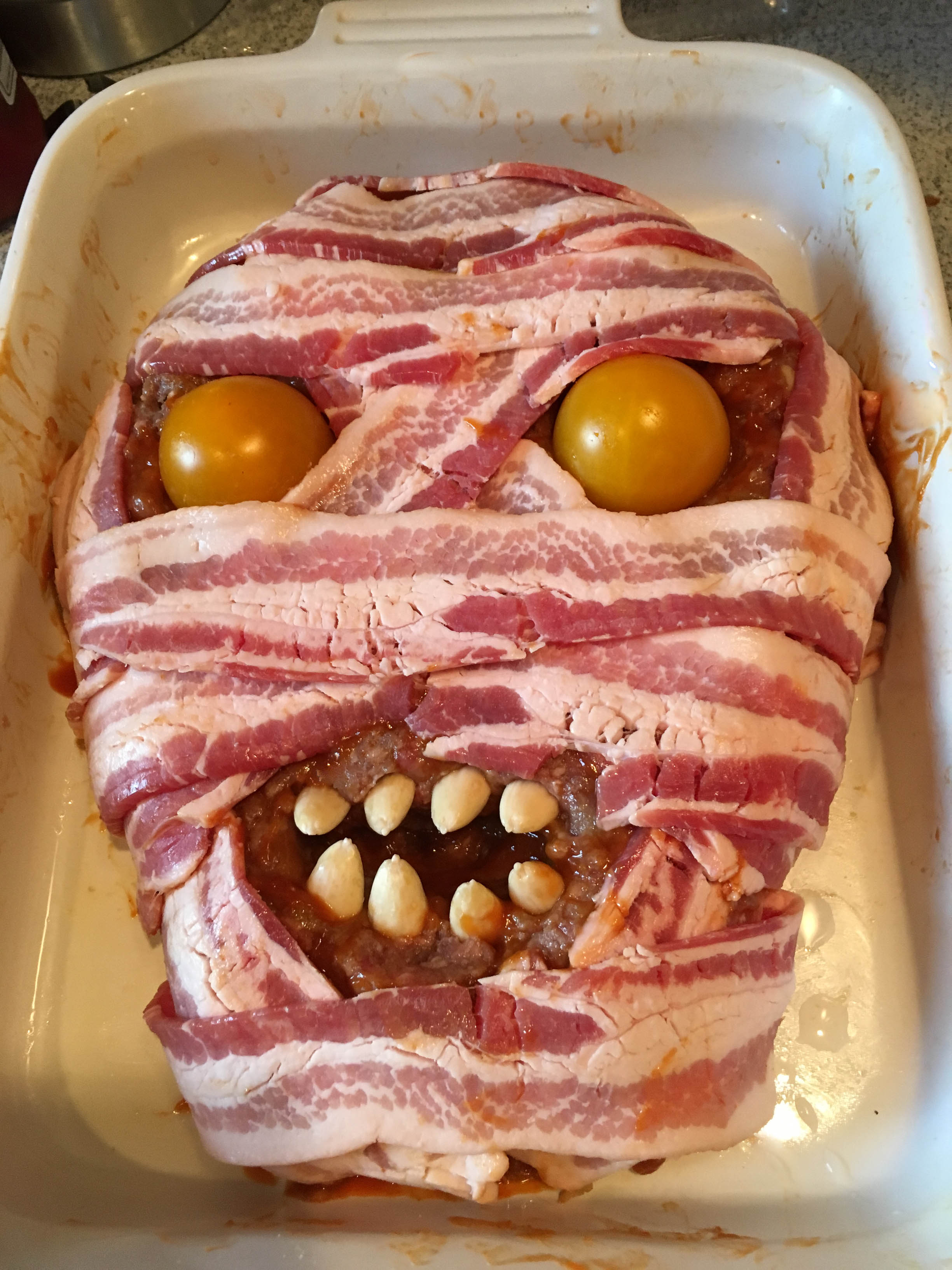 Halloween Meatloaf \u2014 Sweet \u2022 Sour \u2022 Savory