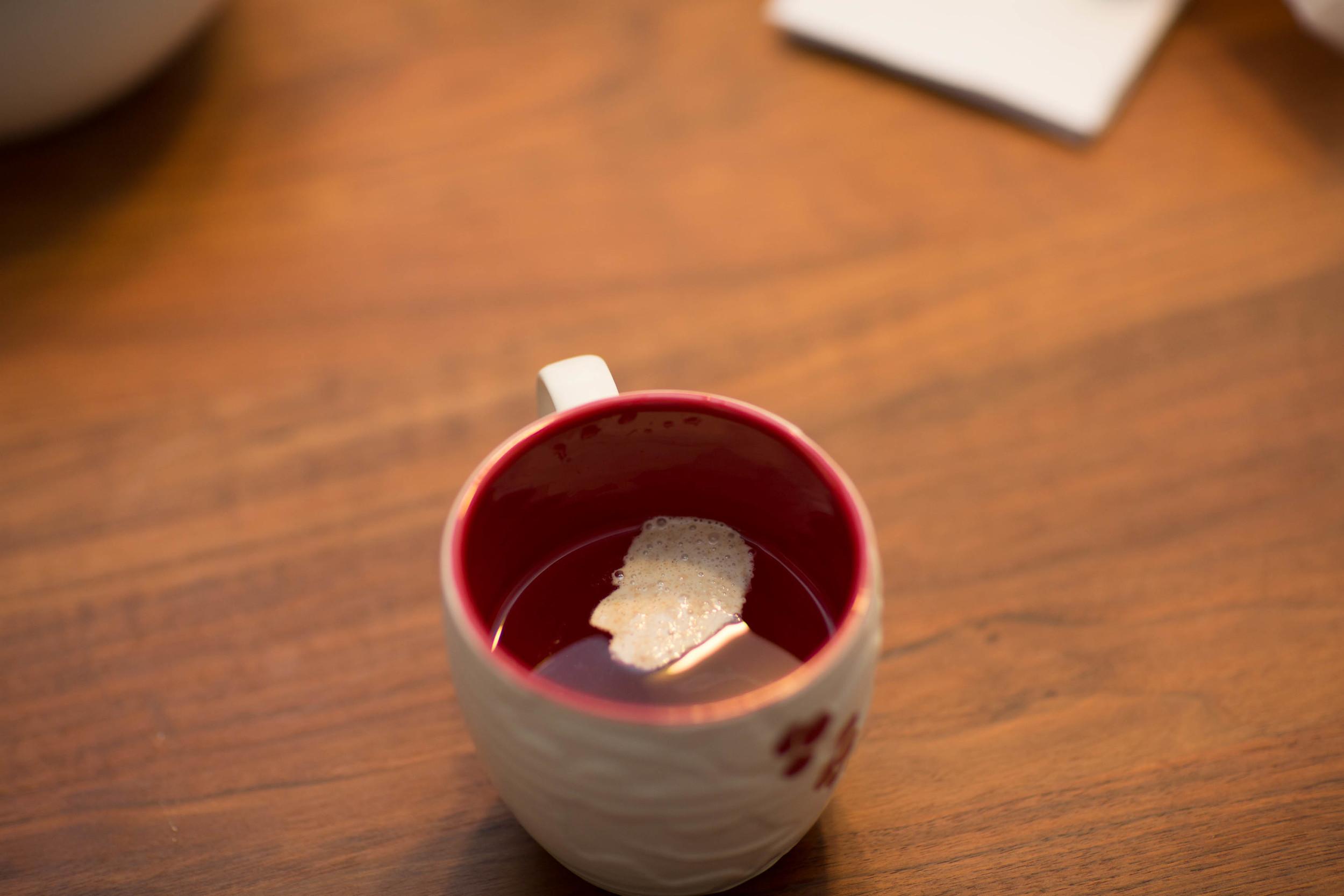 A Sourdough man in a cup