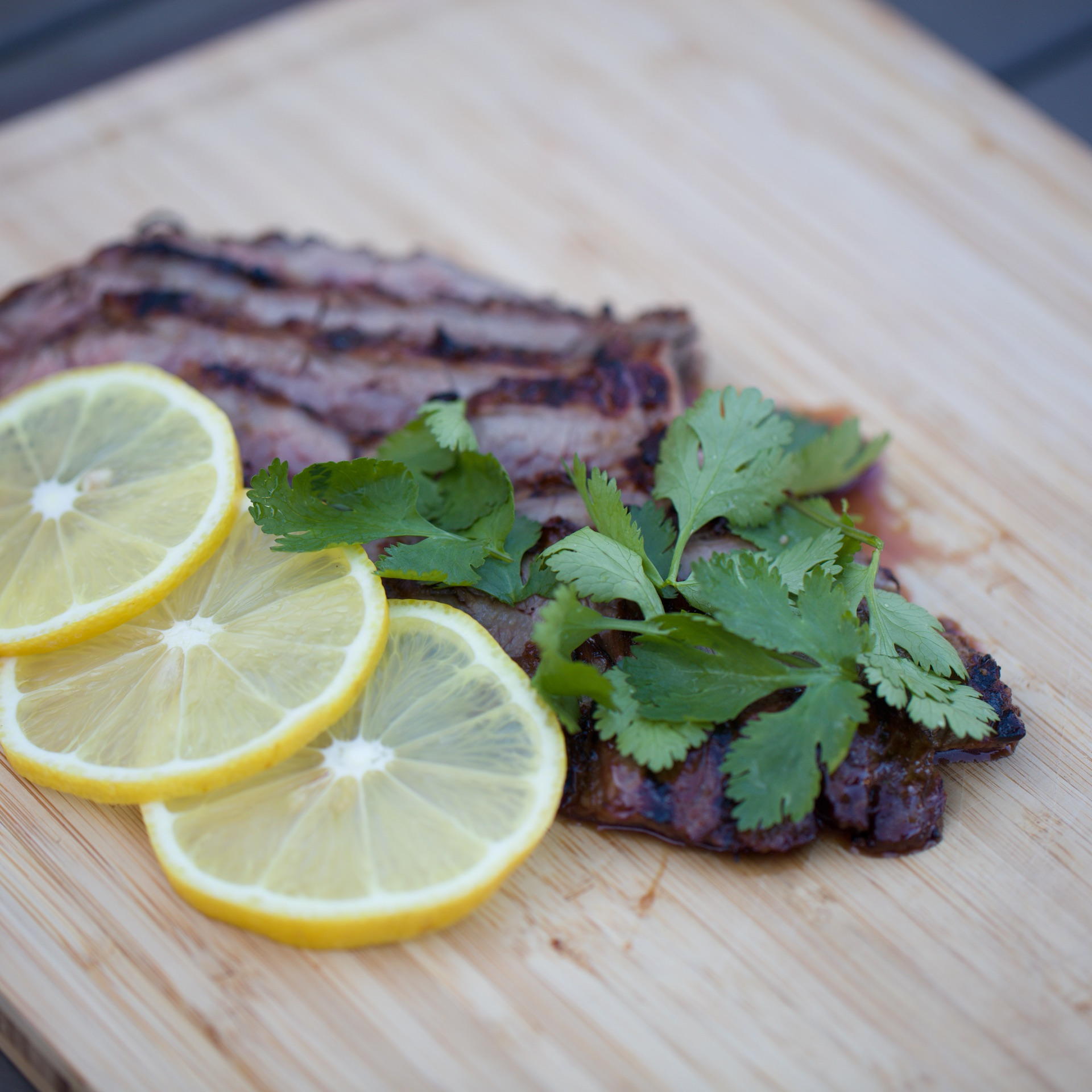 Lemon Marinated Skirt Steak