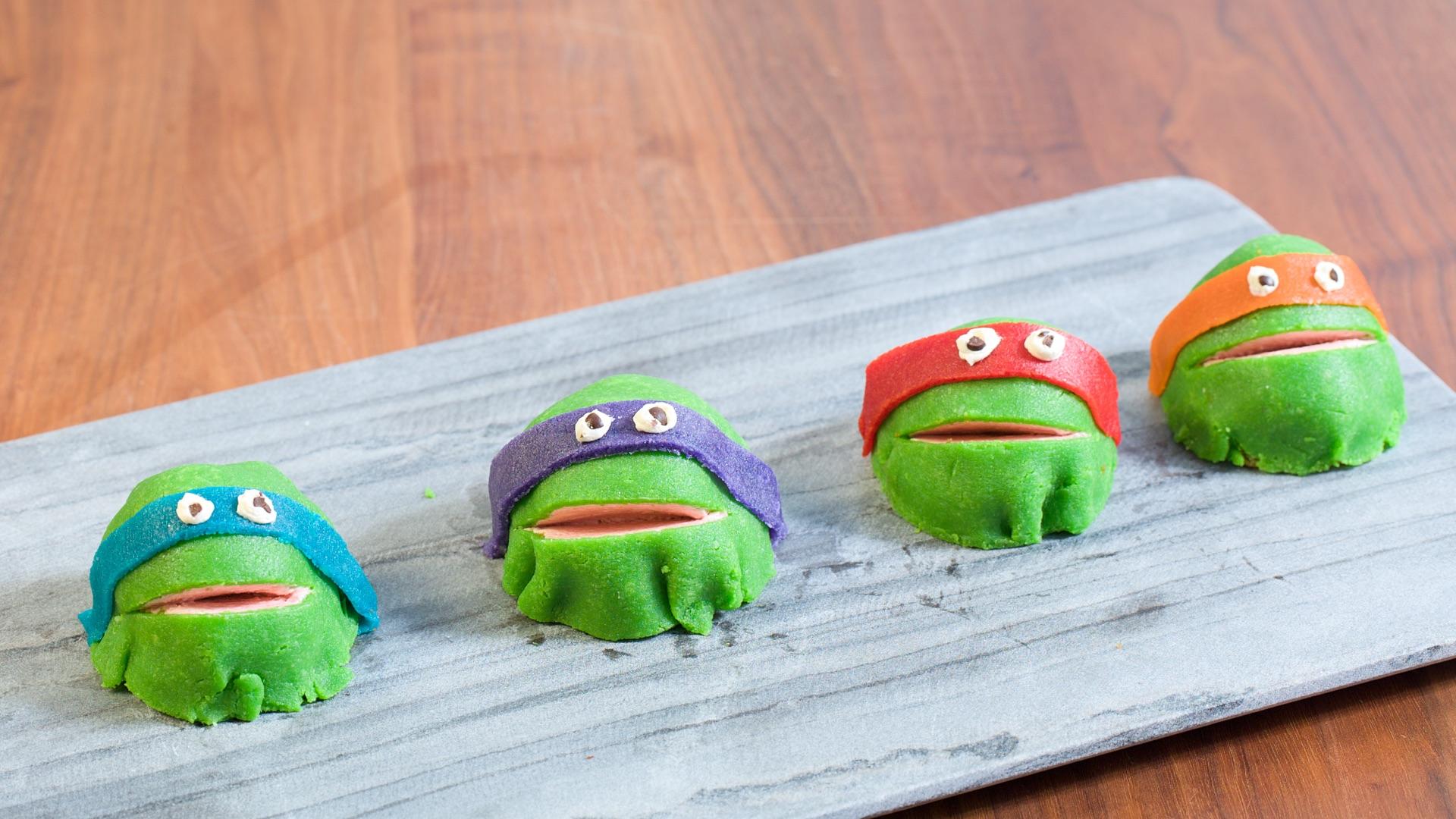 Ninja Turtle Cakes - Ninja Kajkager