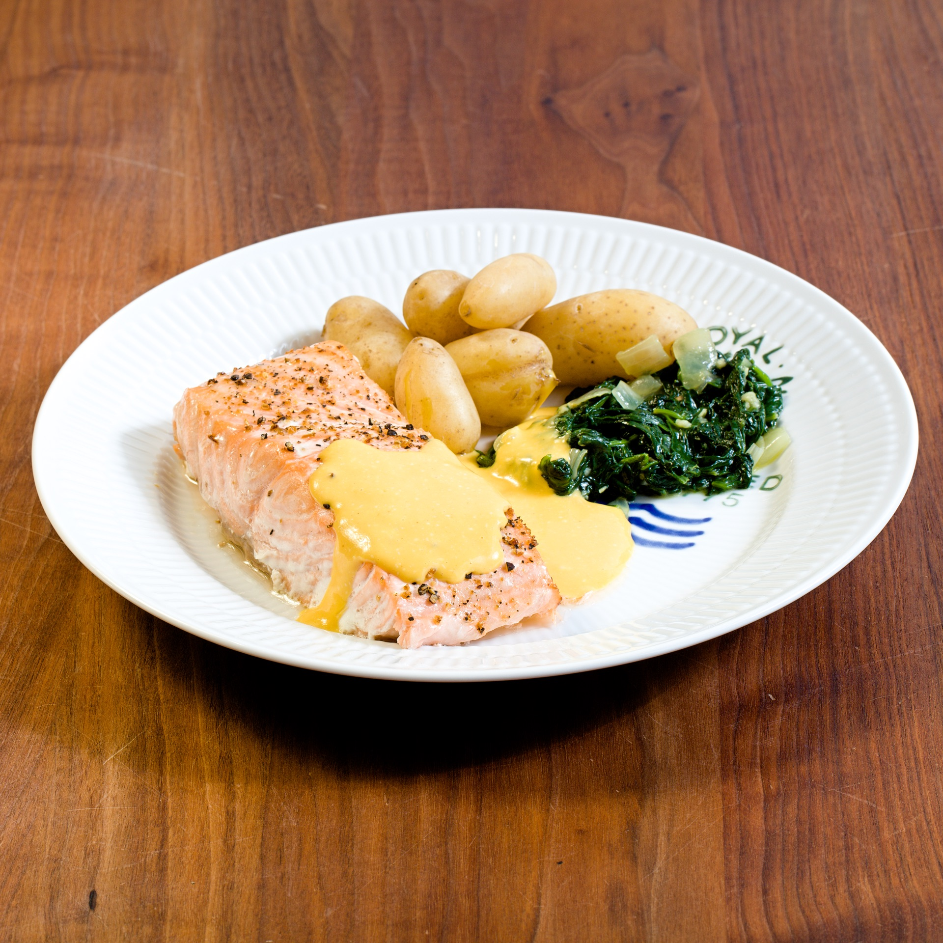 Baked Salmon with Sweet Mustard Sauce