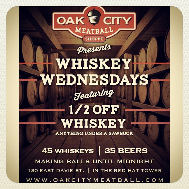 All day every Wednesday, half off bourbons, whiskeys, and scotches. See you this week!