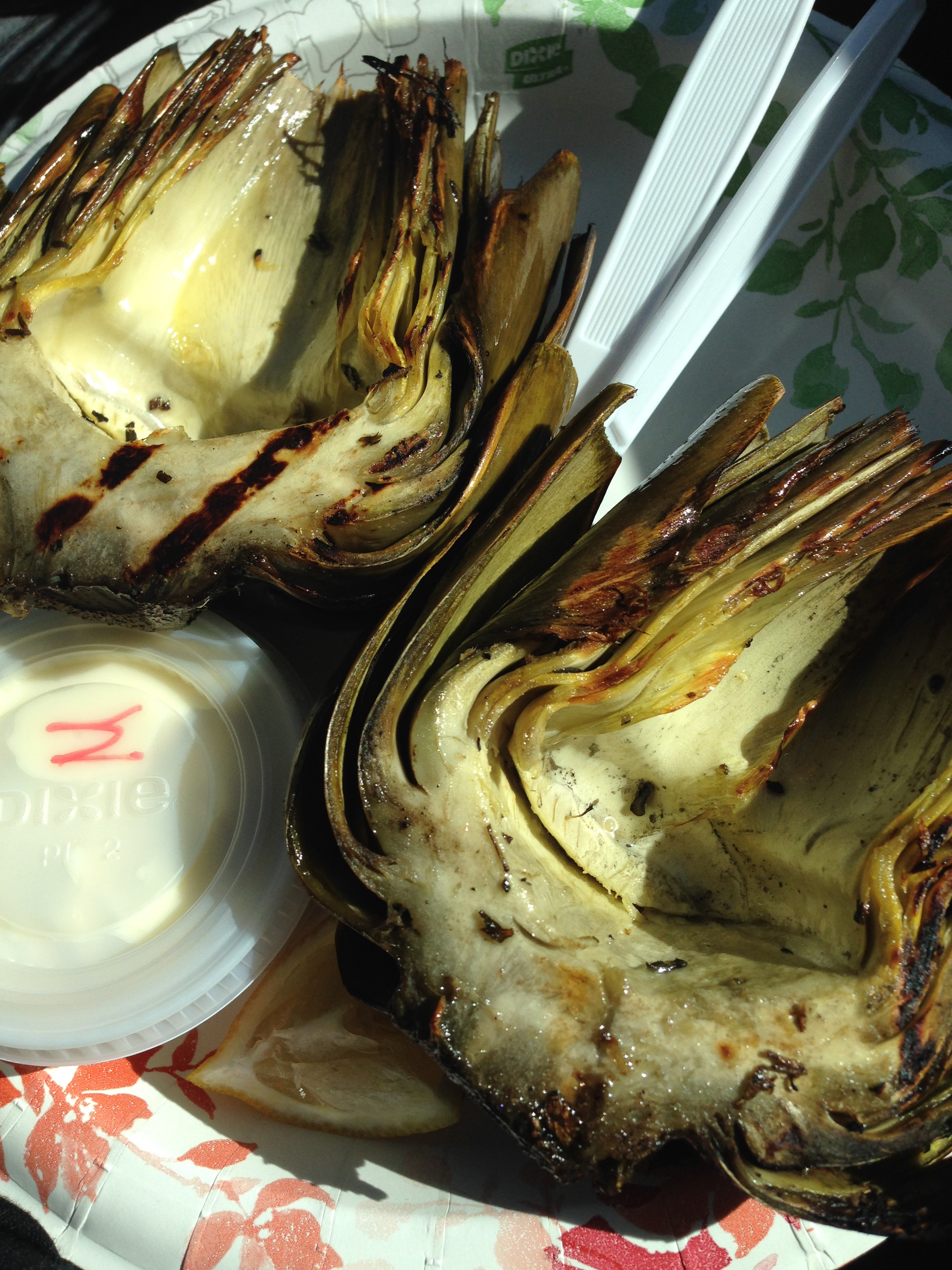 Grilled artichokes are incredible.