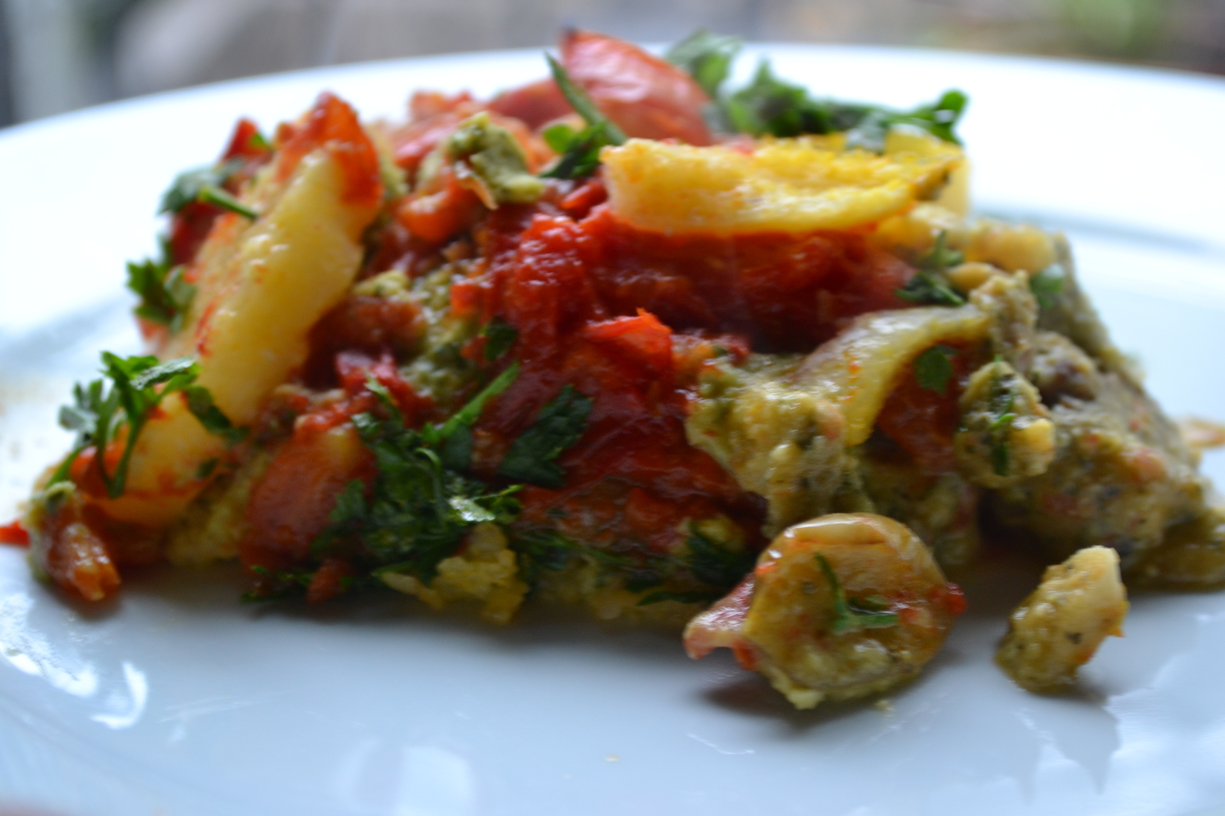 Vegan polenta lasagna with ricNOTta cheese