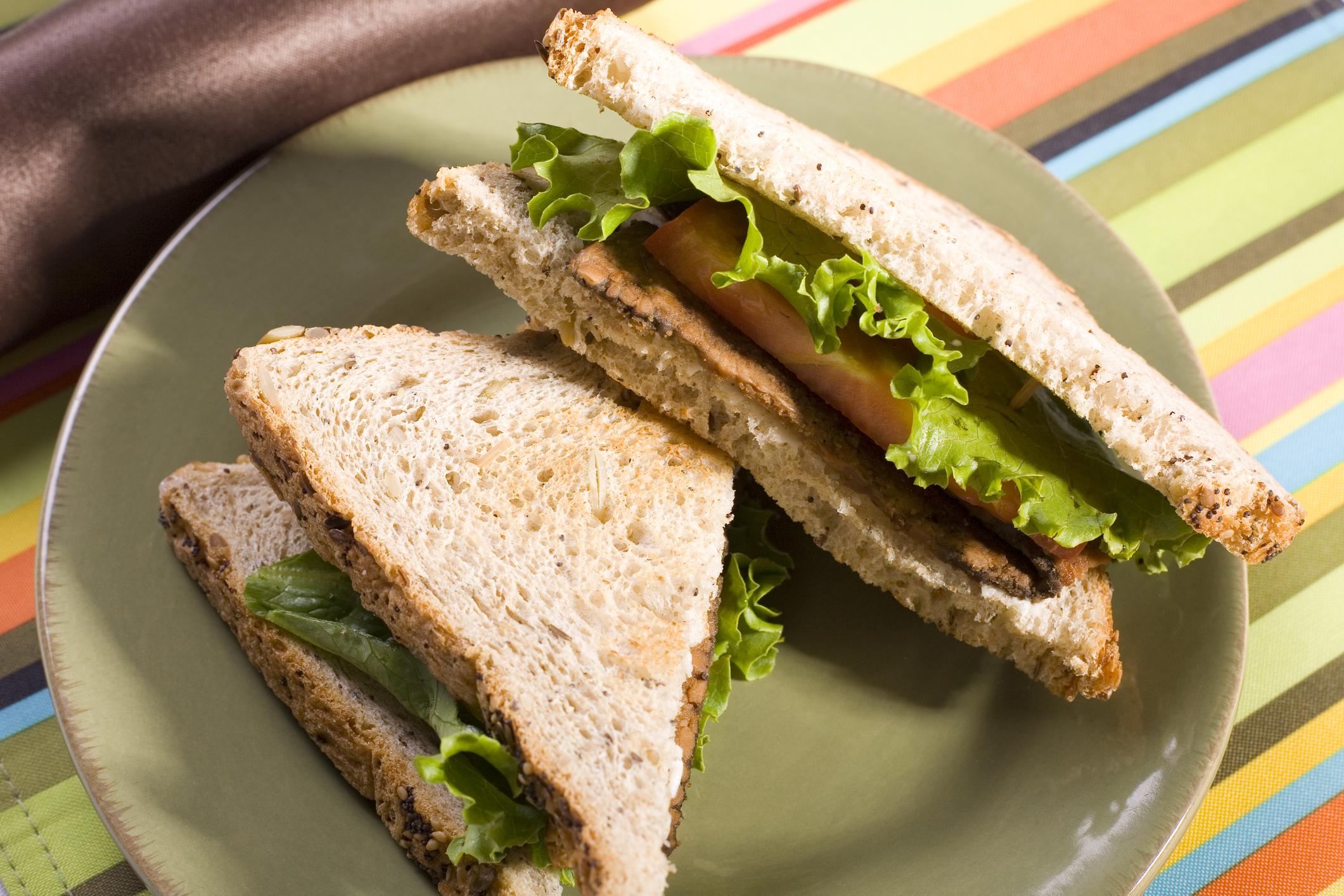 © Stockstudios | Dreamstime.com - Tempeh Lettuce And Tomato Sandwich Photo