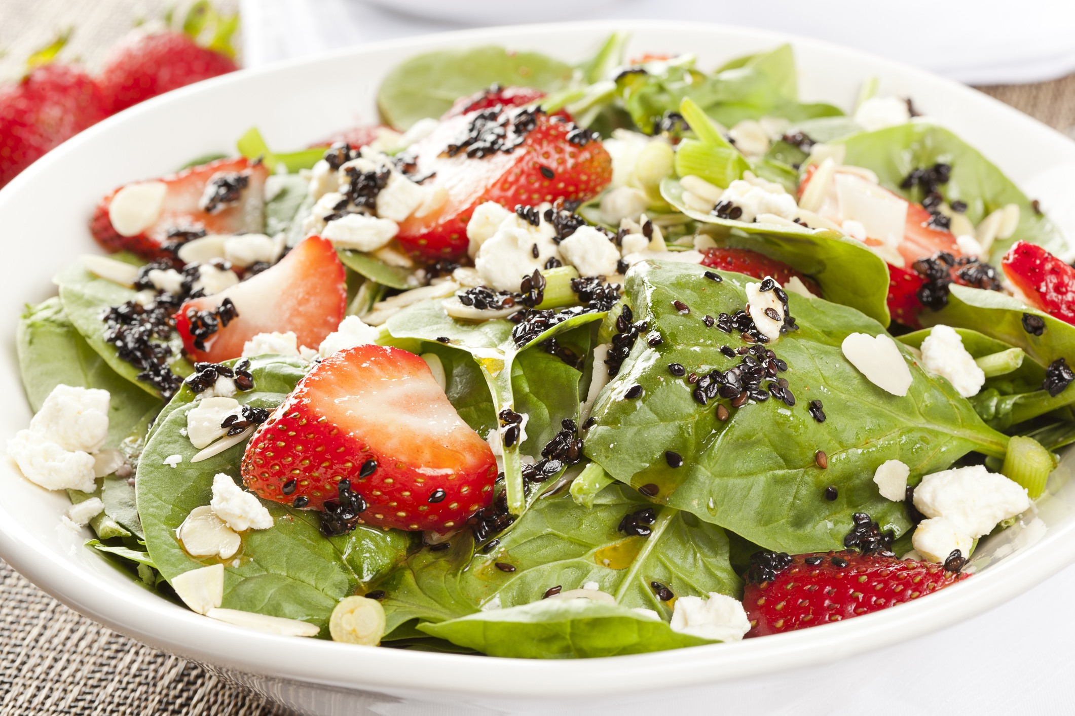 © Bhofack2 | Dreamstime.com - Fresh Homemade Strawberry Spinach Salad Photo