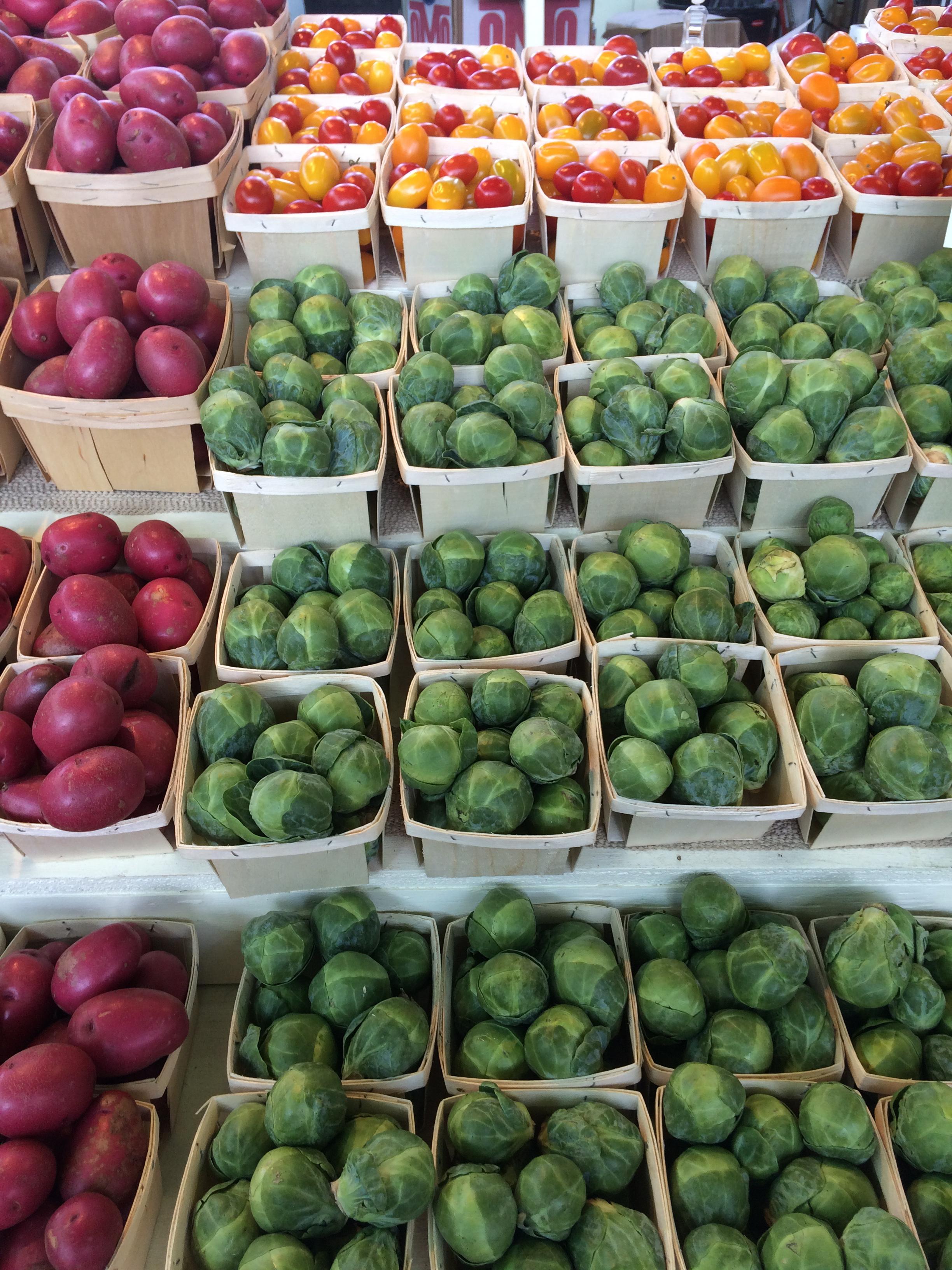 Most organized vegetables ever, atJean Talon Market.