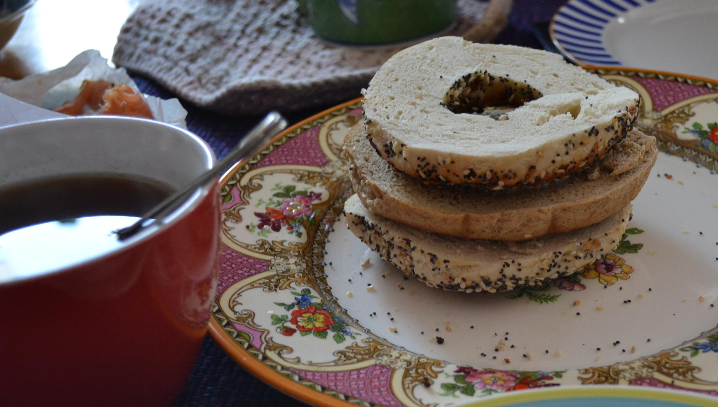 Breakfast! Courtesy St. Viateur Bagel