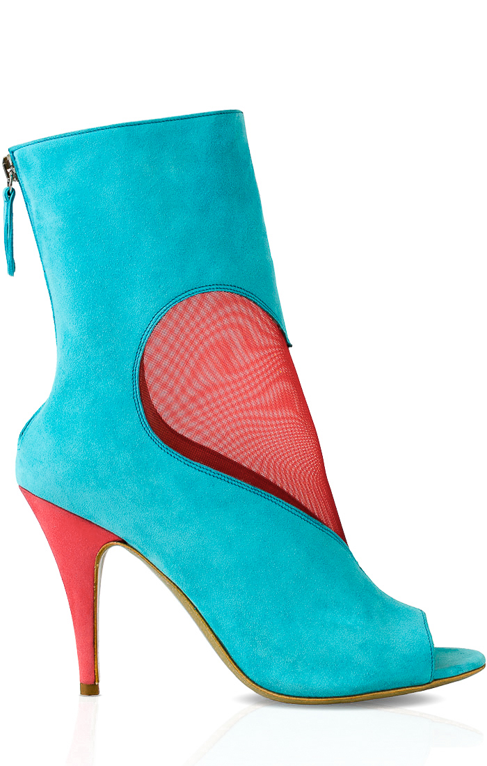 DEEVA in Turquoise/Coral