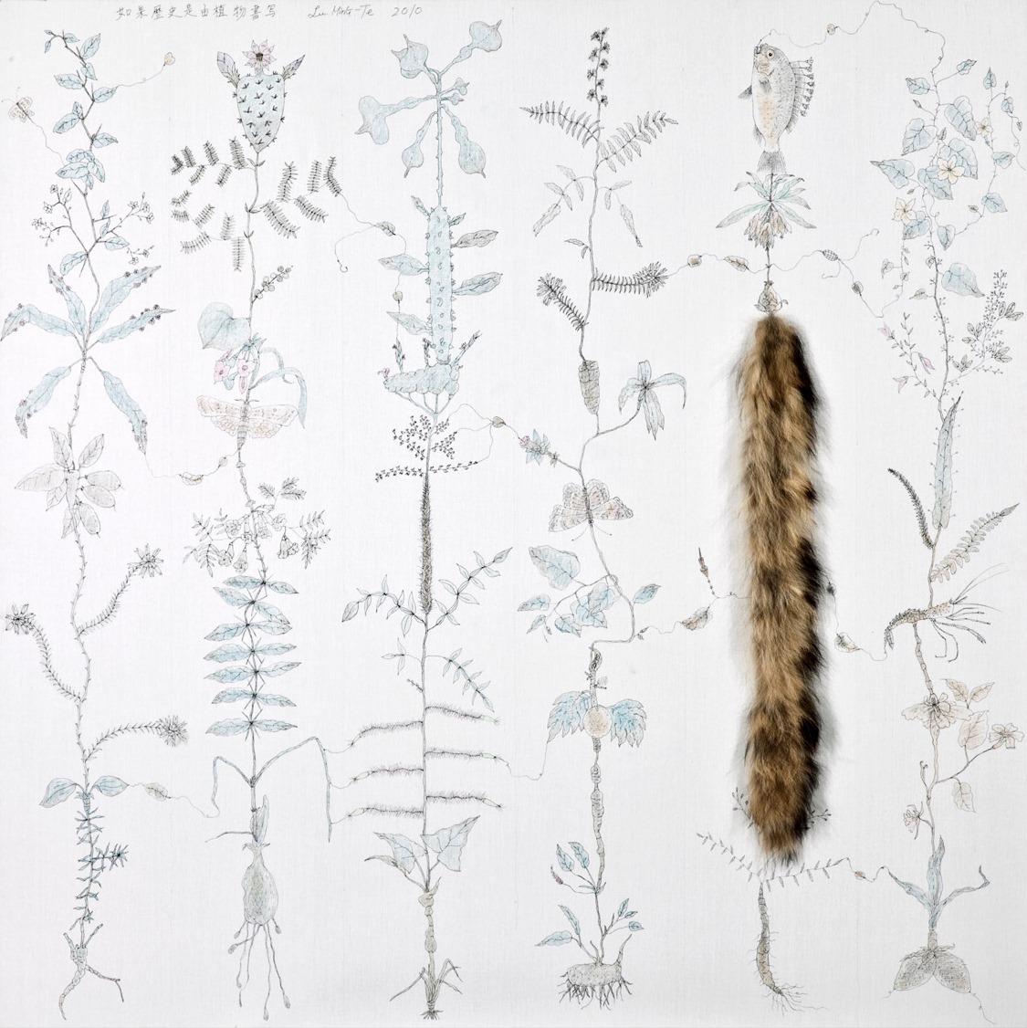 如果歷史是由植物書寫  150x150cm  2010  複合媒材