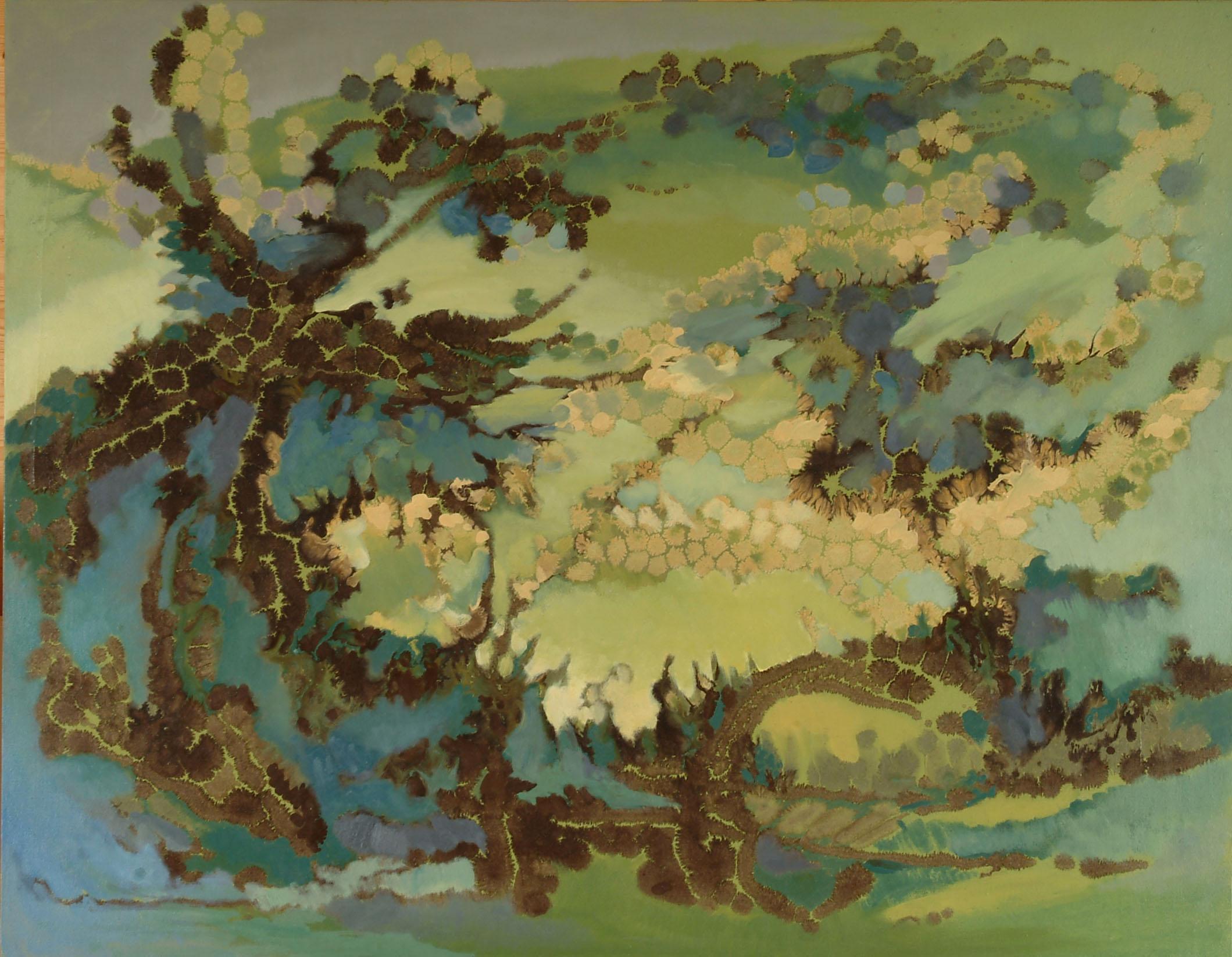 園(二)   91x116 cm  油畫   1981