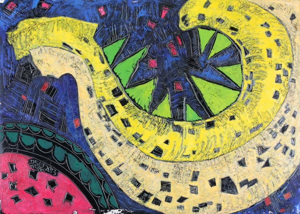 芭那那與甜瓜之二  30P  油畫  2013