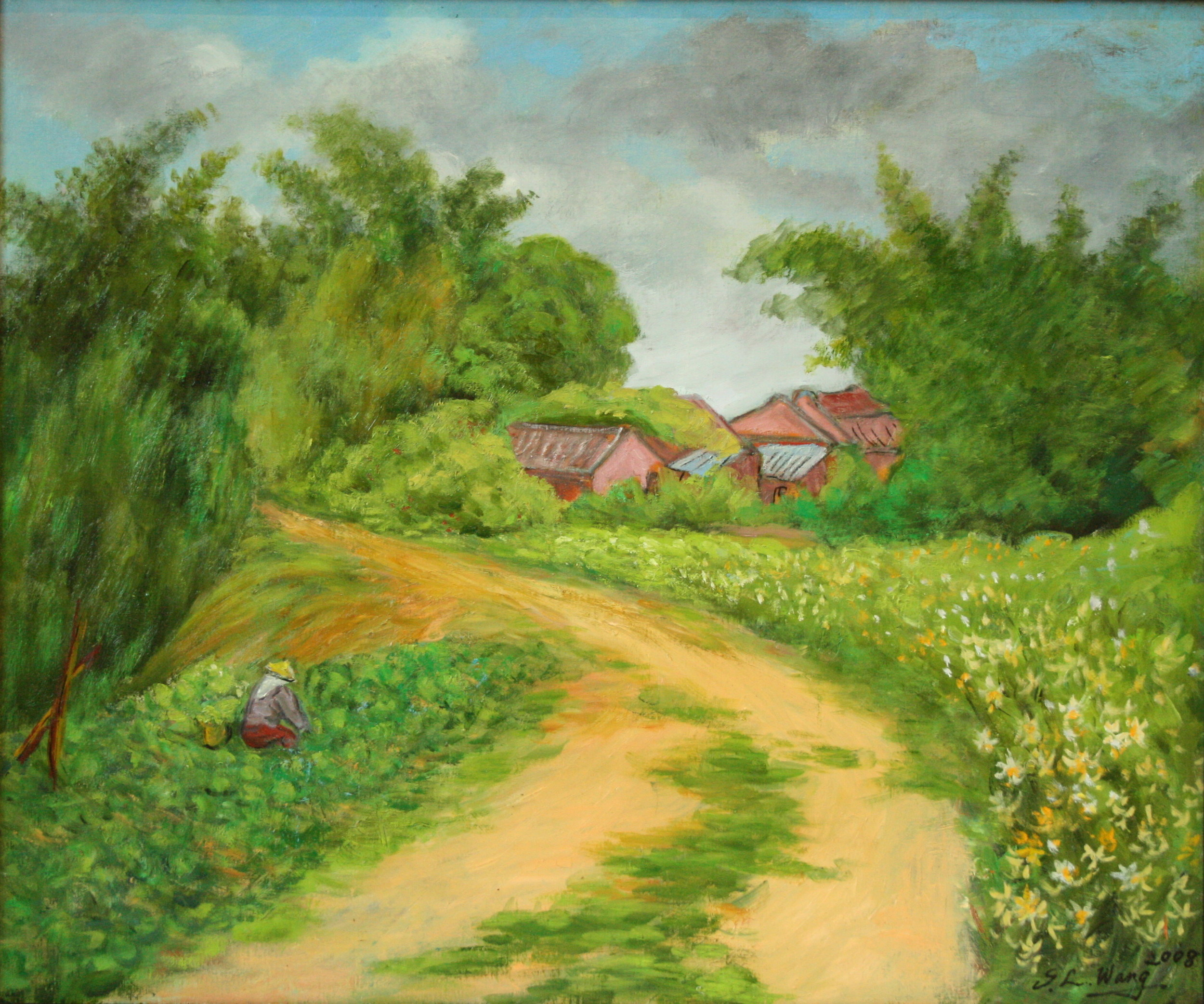 鄉間小路 20F 72.5x60.5 cm 油彩 畫布 2008