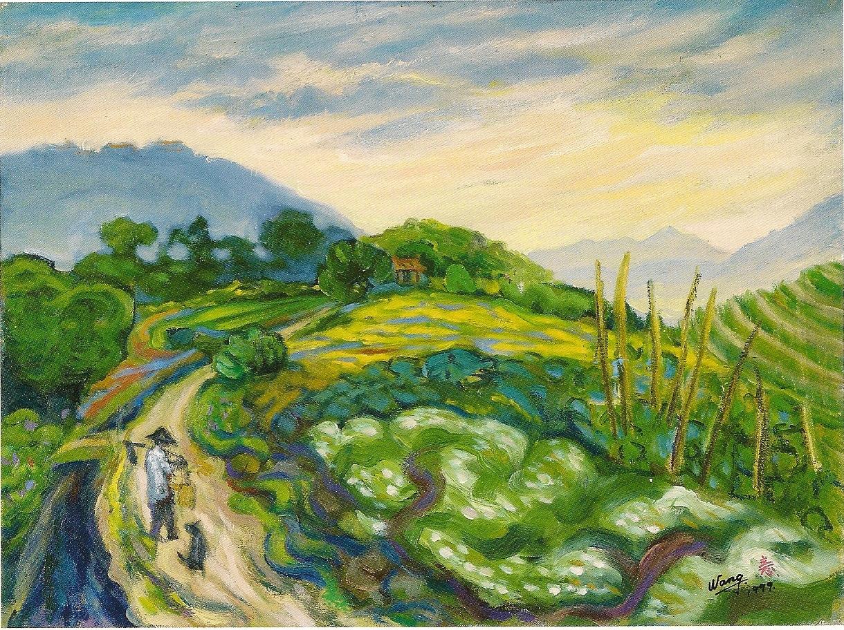 陽明山湖頂 12P 60.5x45 cm 油彩 畫布 1992