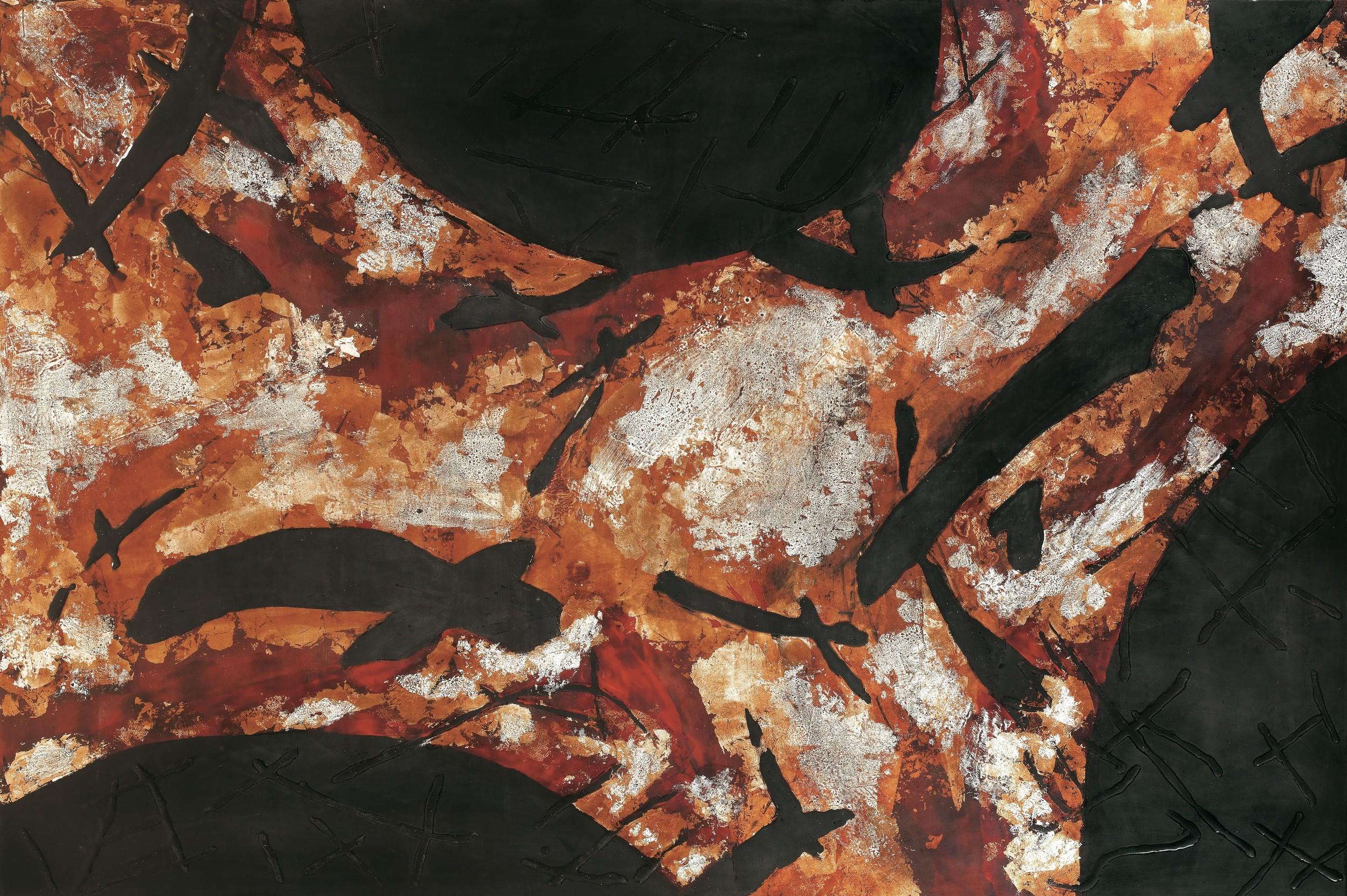 汪天亮 大象無形 120x180 cm 110號 漆、綜合媒材