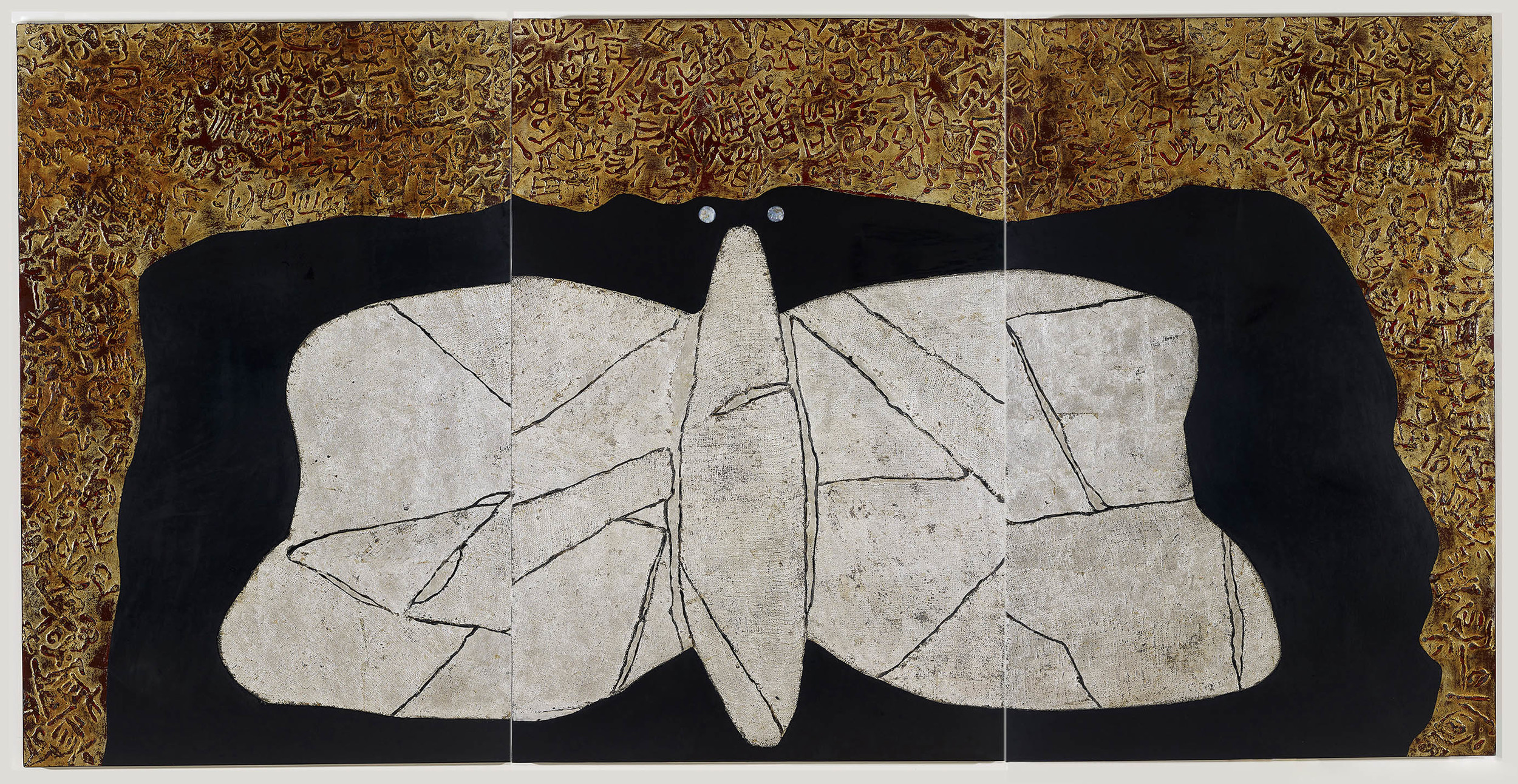 汪天亮 化蝶 180x120cm x3 漆、綜合媒材