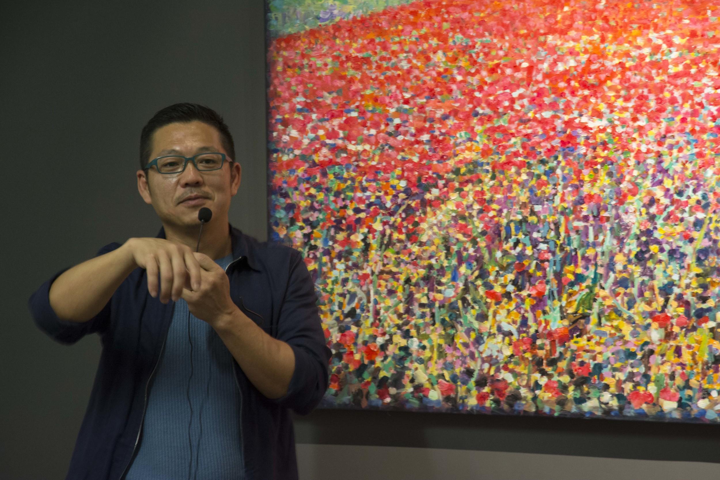 翁明哲於現場分享創作歷程